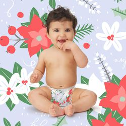 hollydays winter diaper print