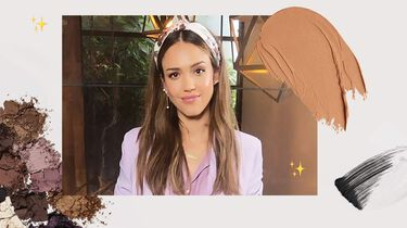 jessica alba in her office makeup look