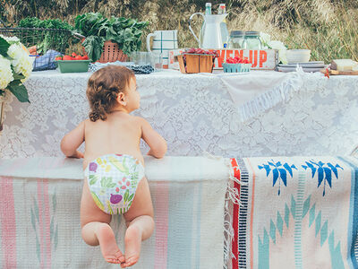 Behind the Scenes of Our Spring Diaper Shoot: Meet Michelle
