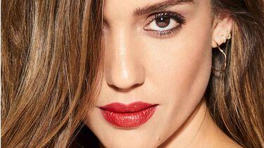 Jessica with red lipstick