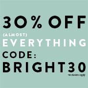 30% off w/ code: BRIGHT30 Image