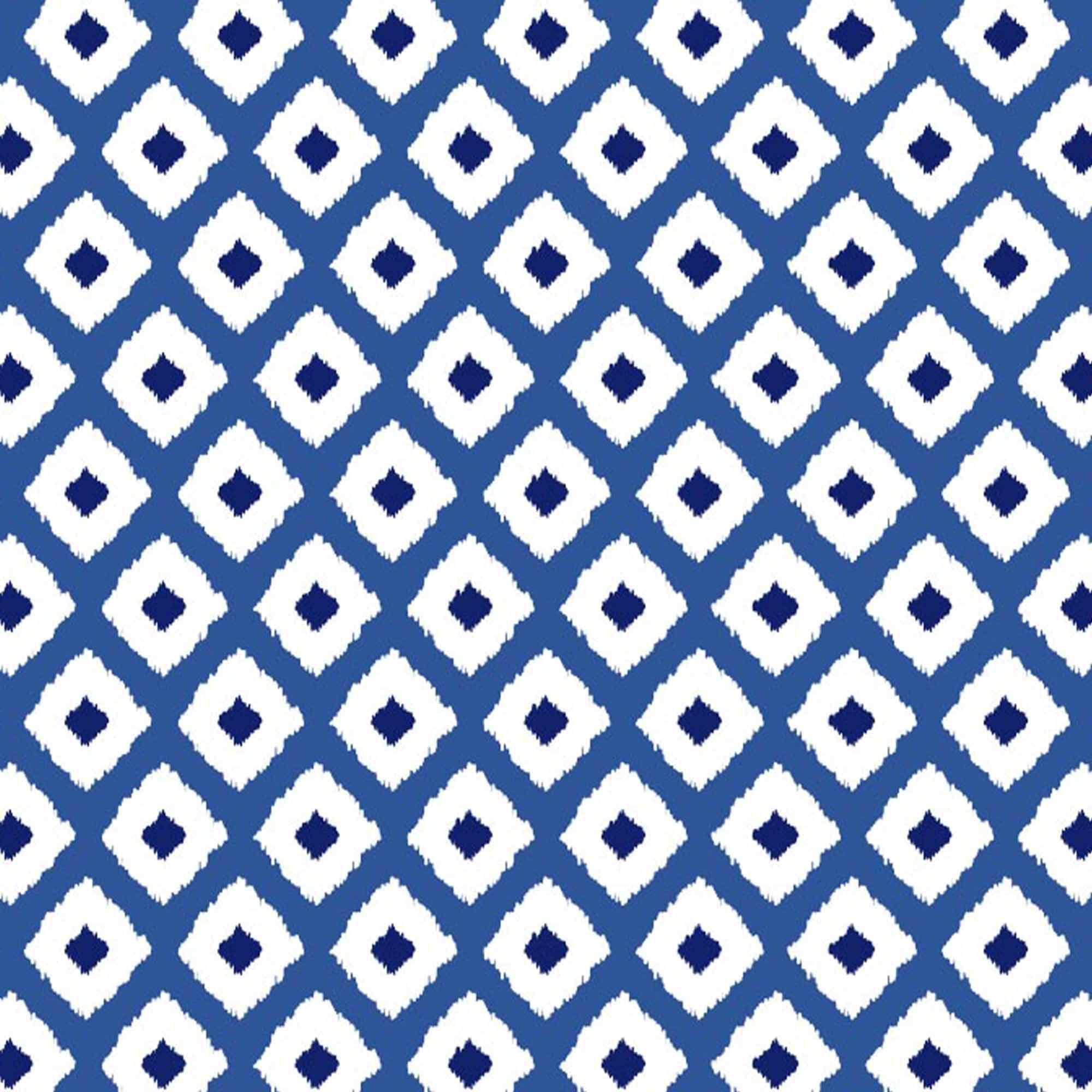 blue ikat print