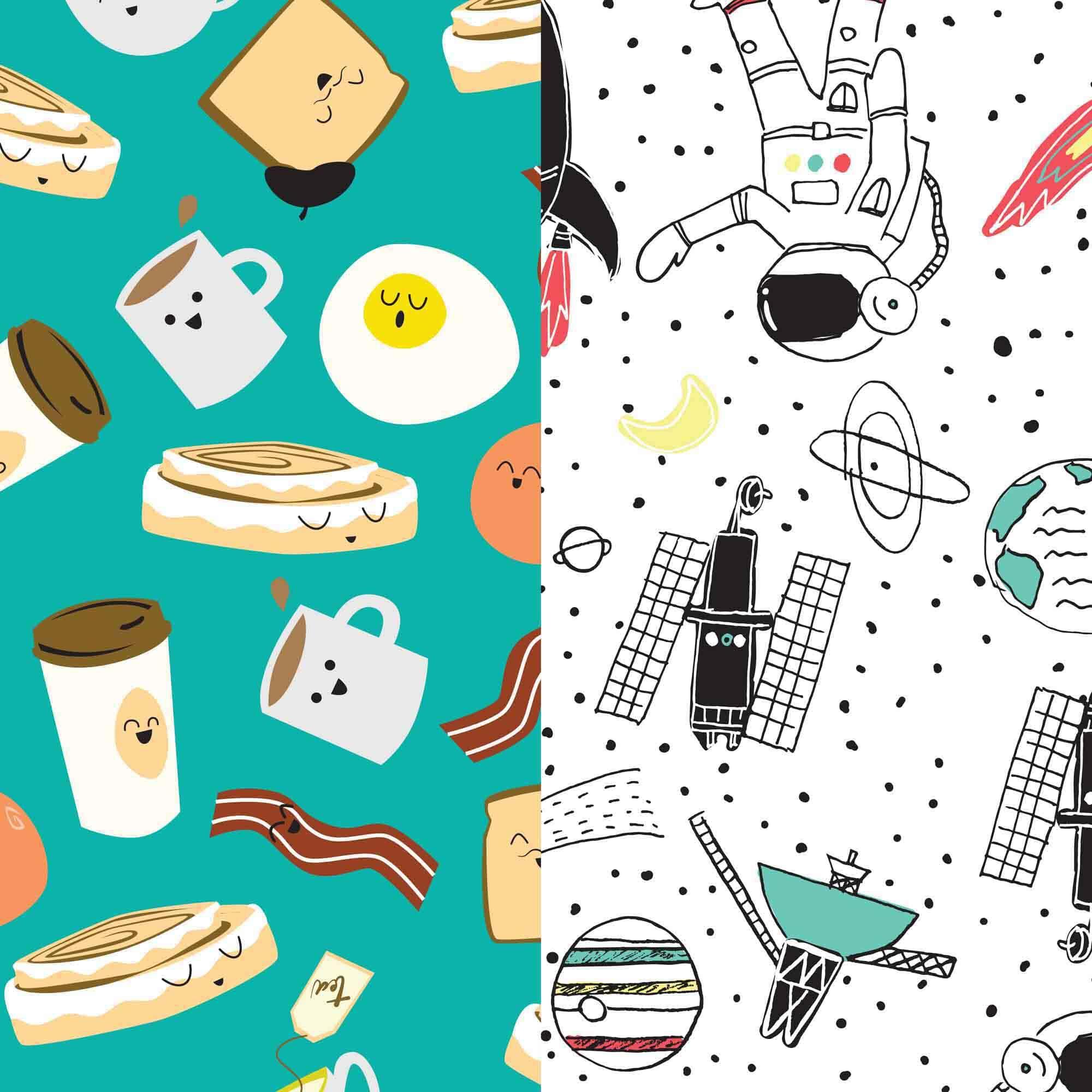 Diaper Box, Space Travel + Breakfast, Size 3