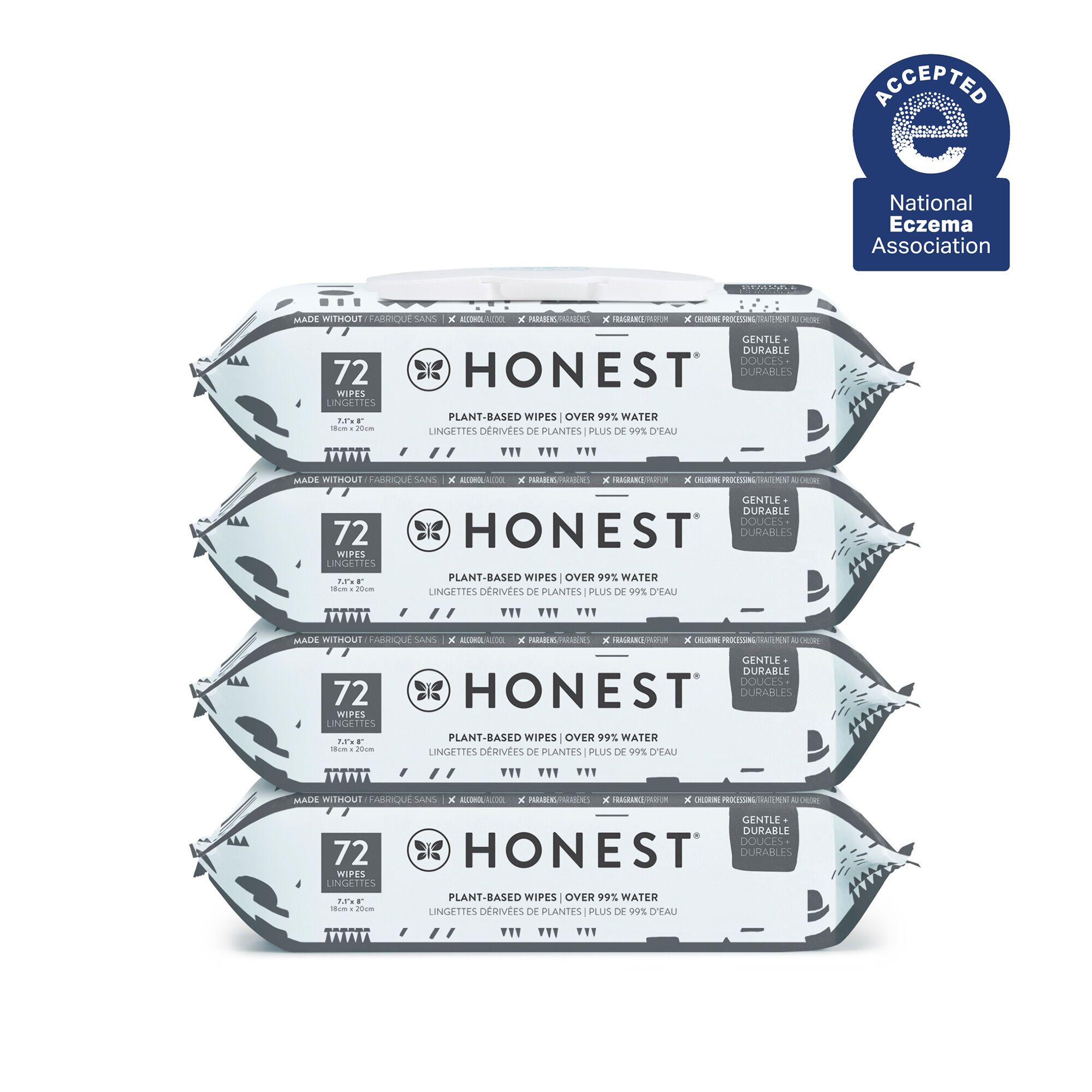 Honest Wipes, Pattern Play, 288 Count