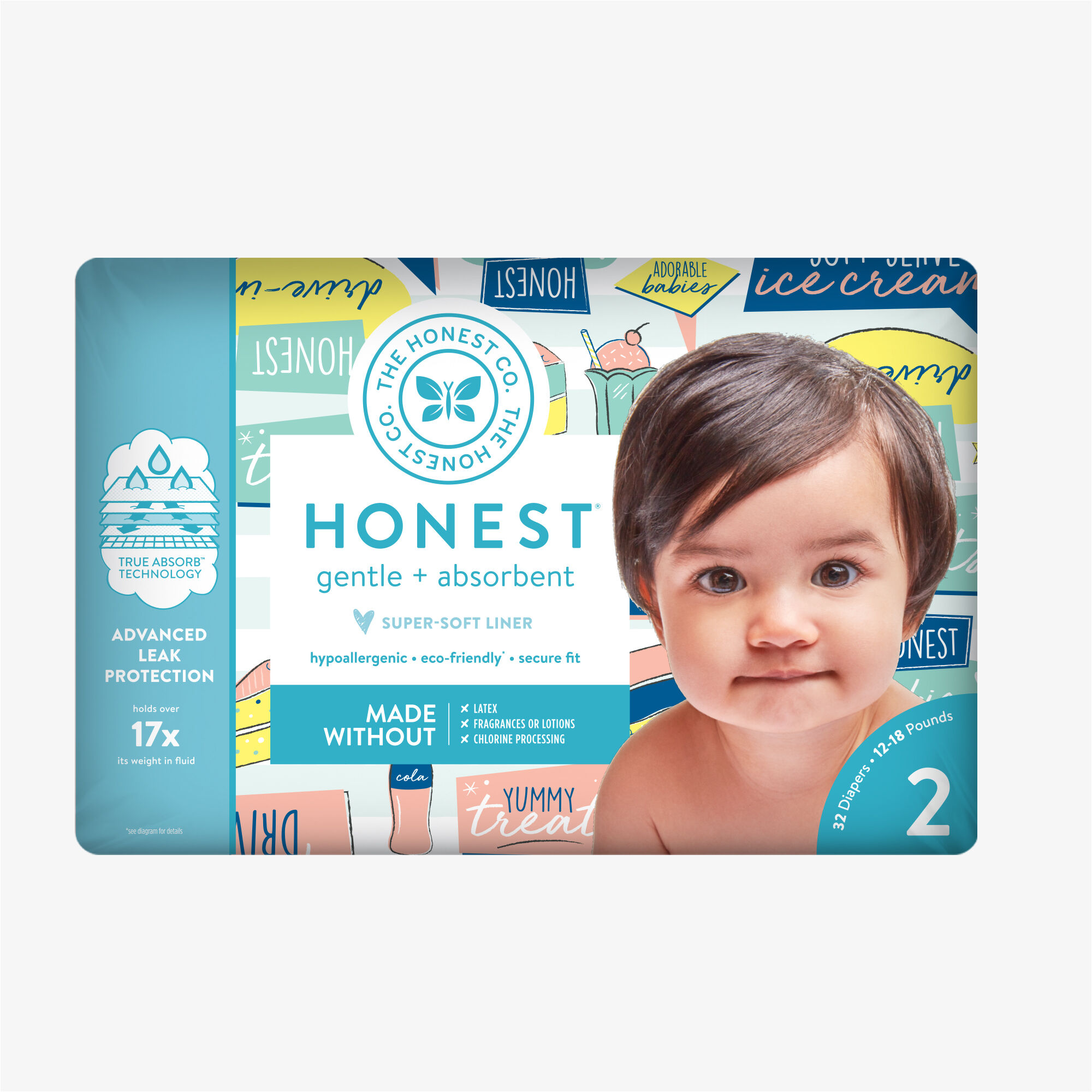 Diapers, Honest Drive-In, Size 2