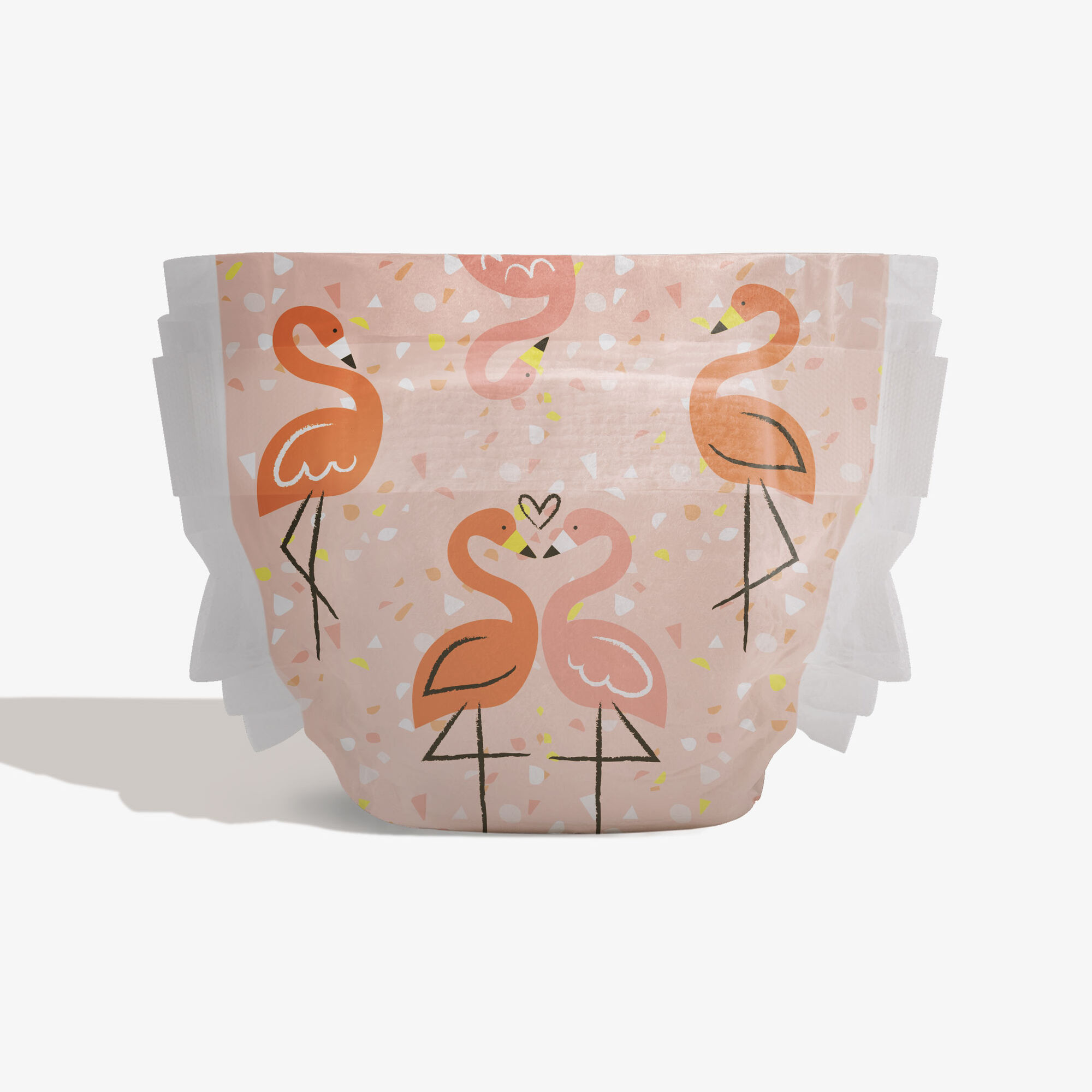 Diapers, Flamingo Love, Size 3