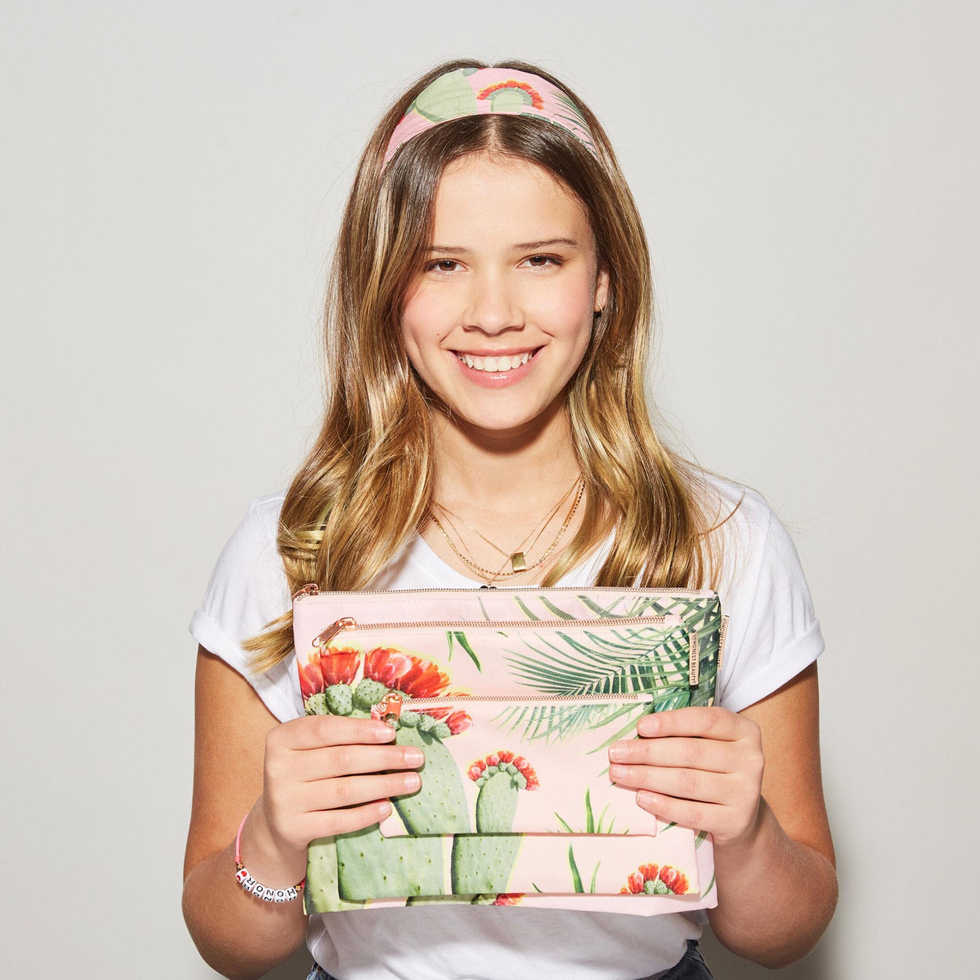 Palm Print Beauty Bag, Large