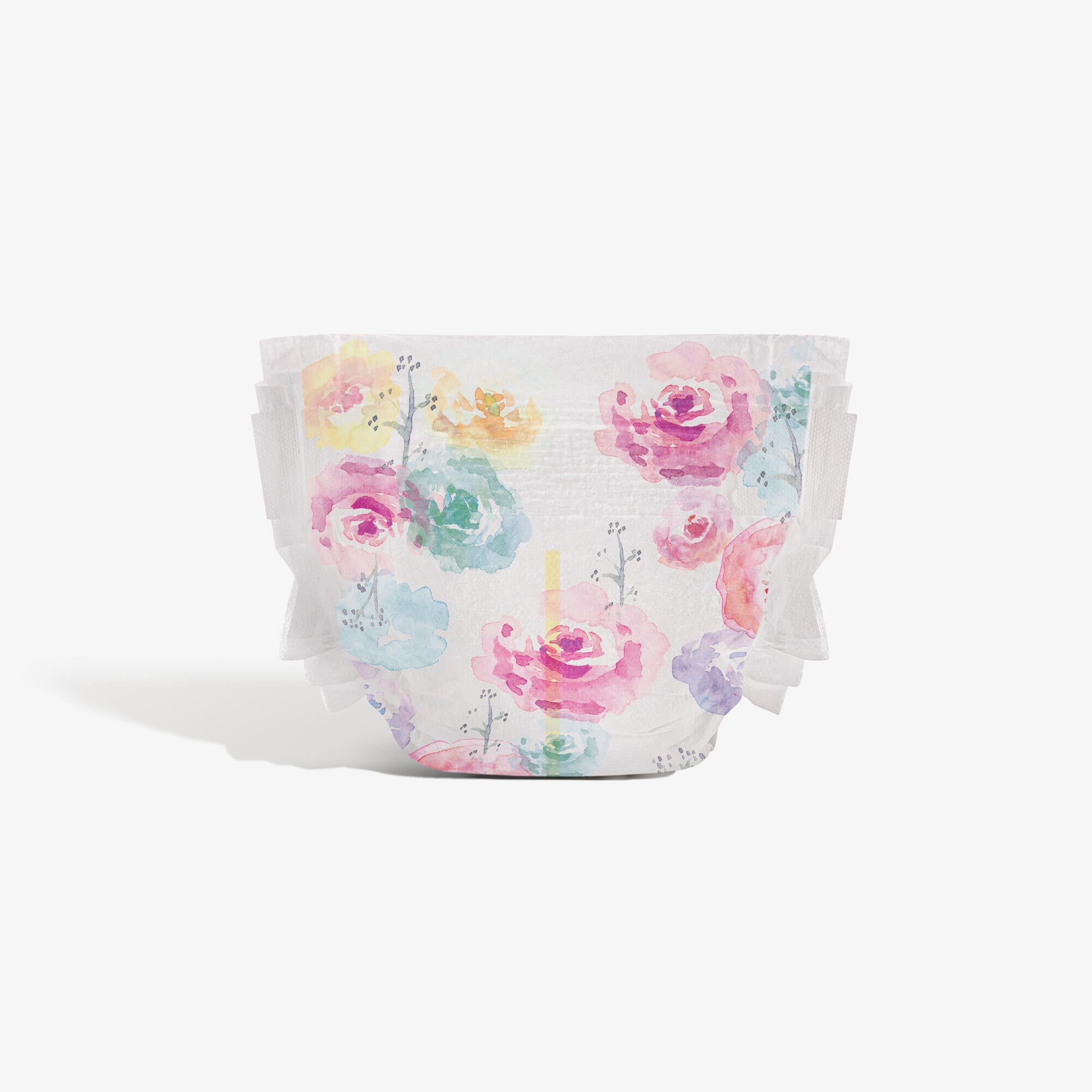 Clean Conscious Diaper, Rose Blossoms, Size 1