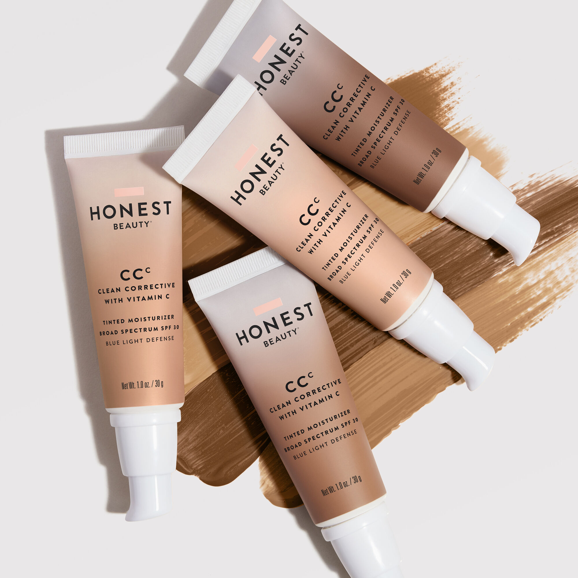tinted moisturizers in various shades