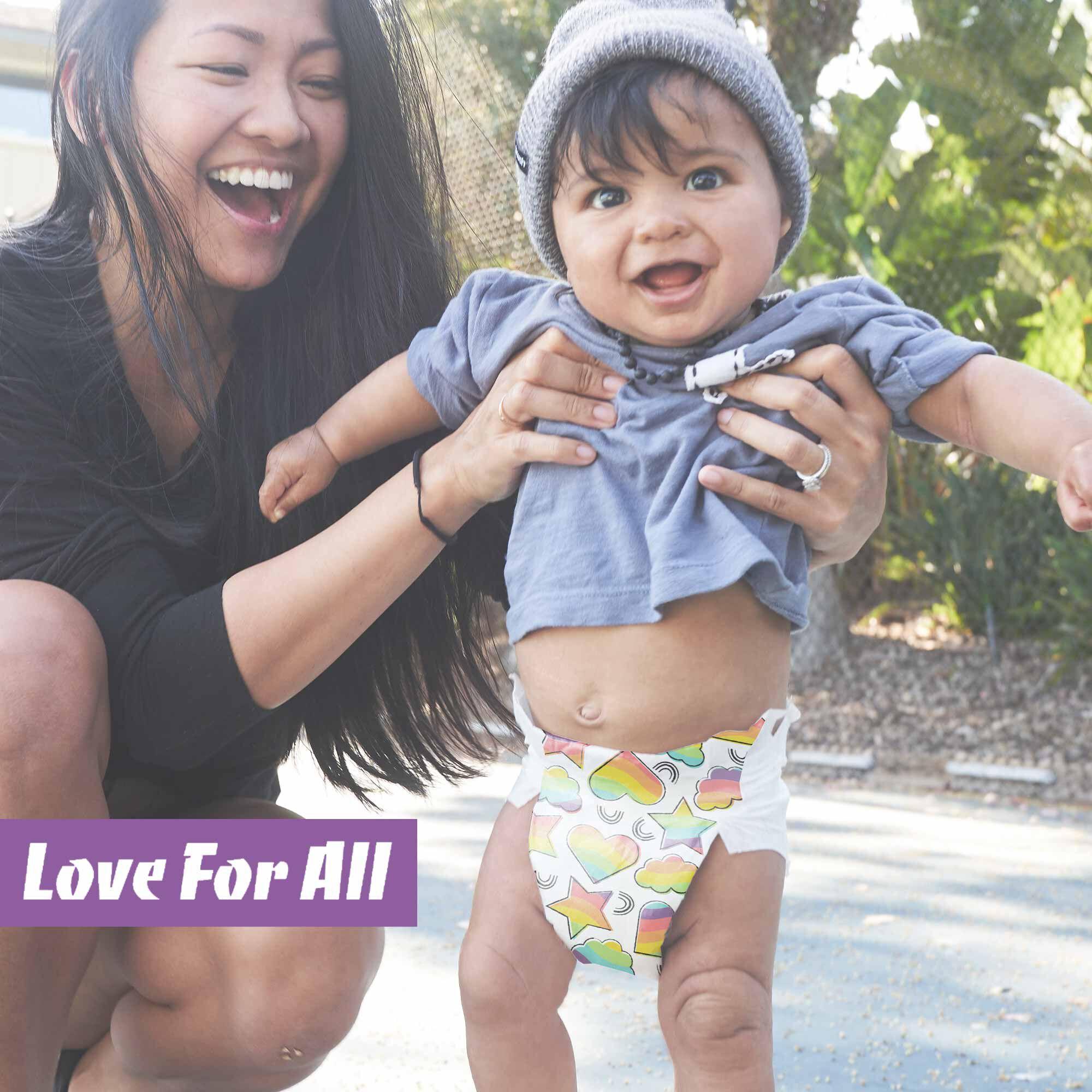 love for all diaper print