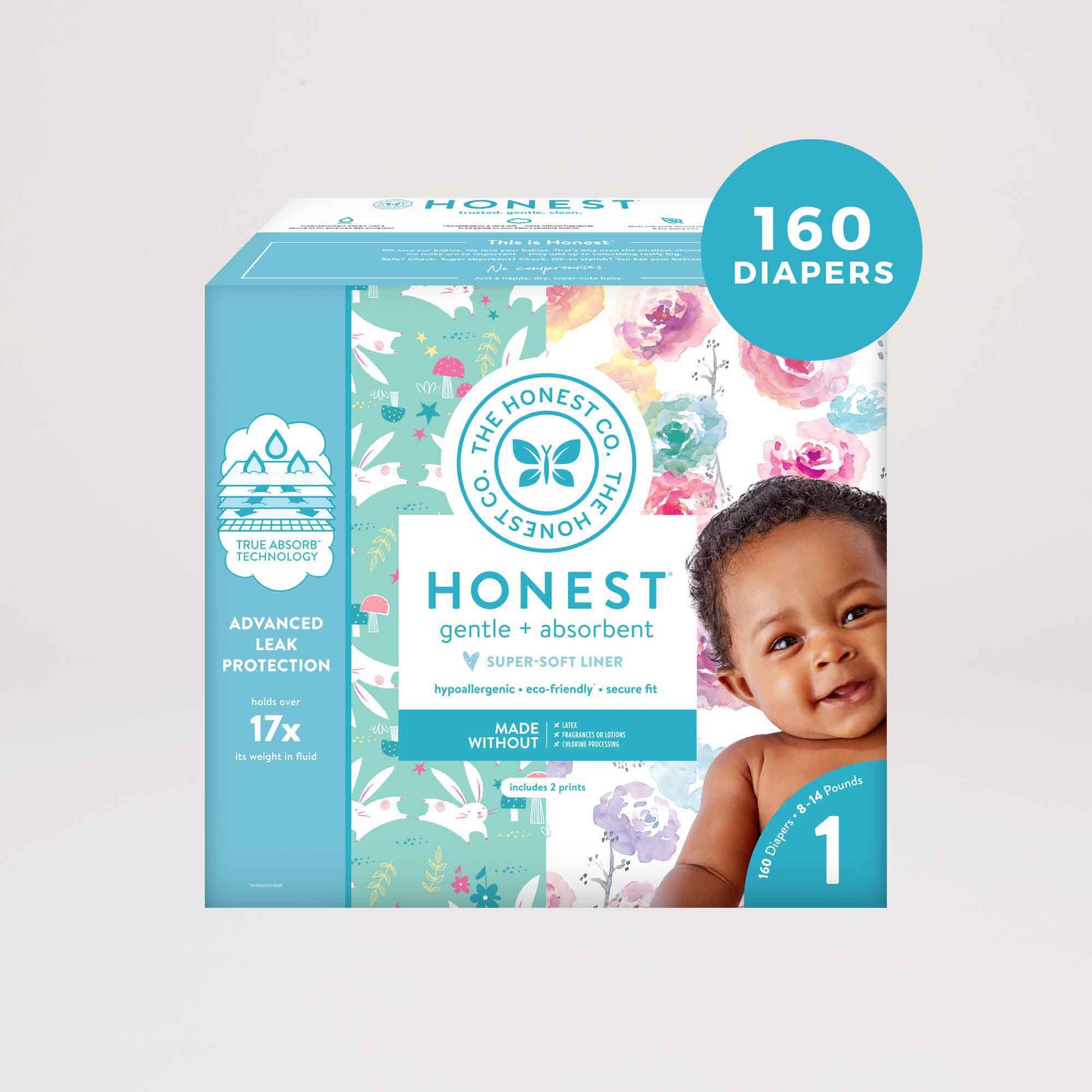Rose Blossoms/Bunnies Diaper Box