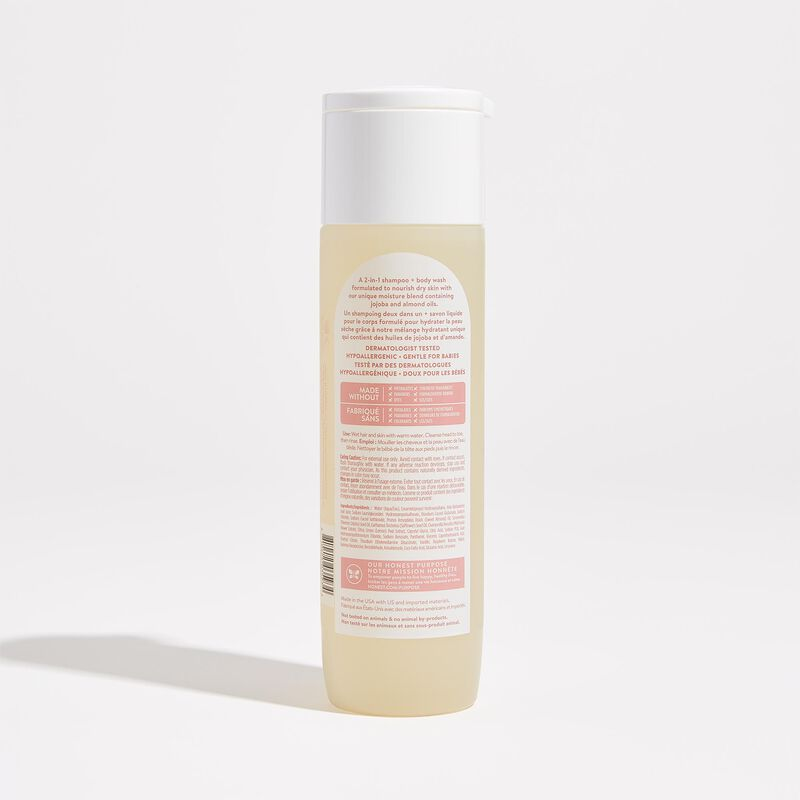 Sweet Almond Scented Shampoo and Body Wash Back of Product