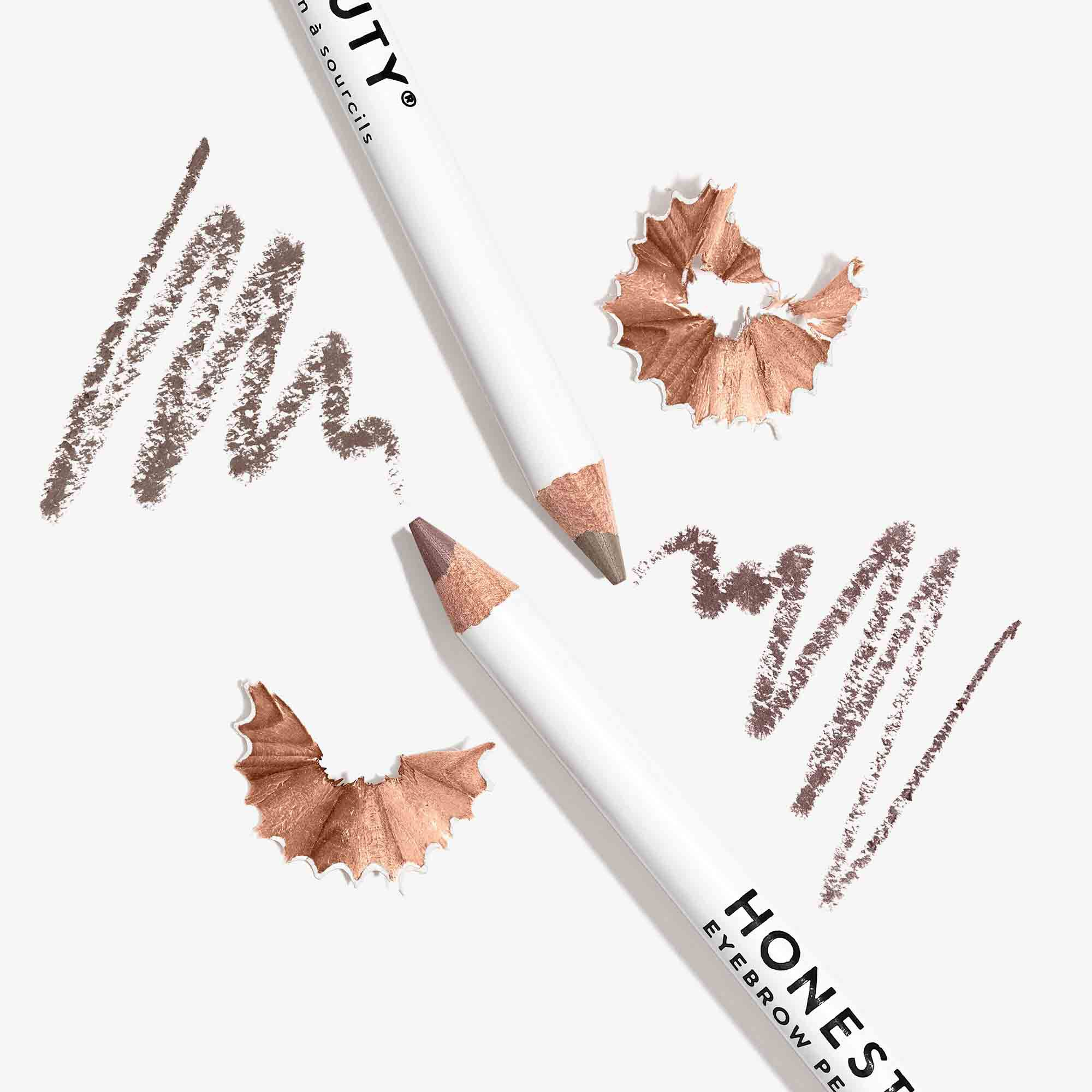 eyebrow pencils in both taupe and brown