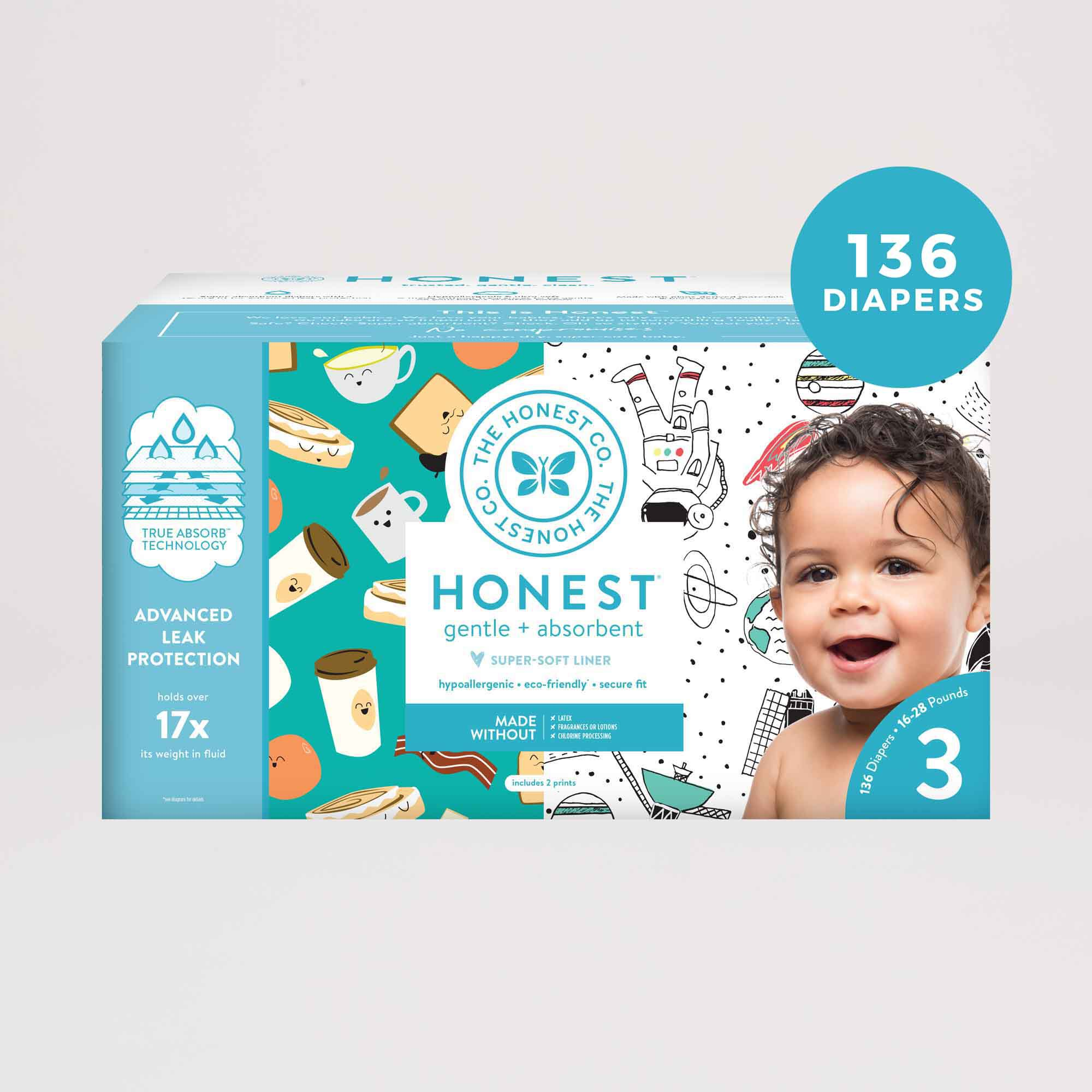 Space Travel and Breakfast Diaper Box