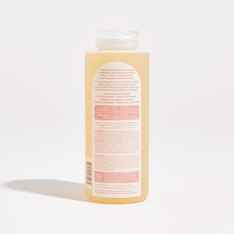 Back of Product Sweet Almond Scented Bubble Bath