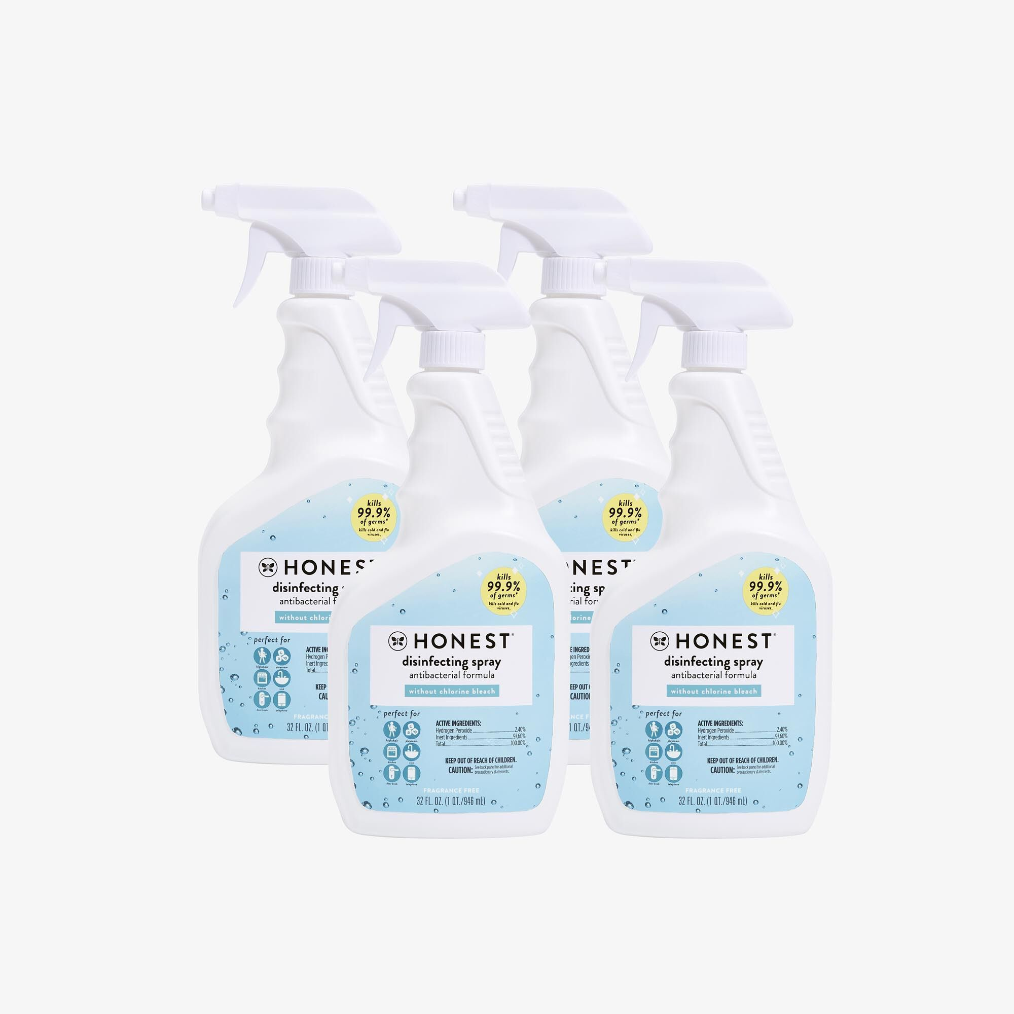 Honest Disinfecting Spray, 4-Pack