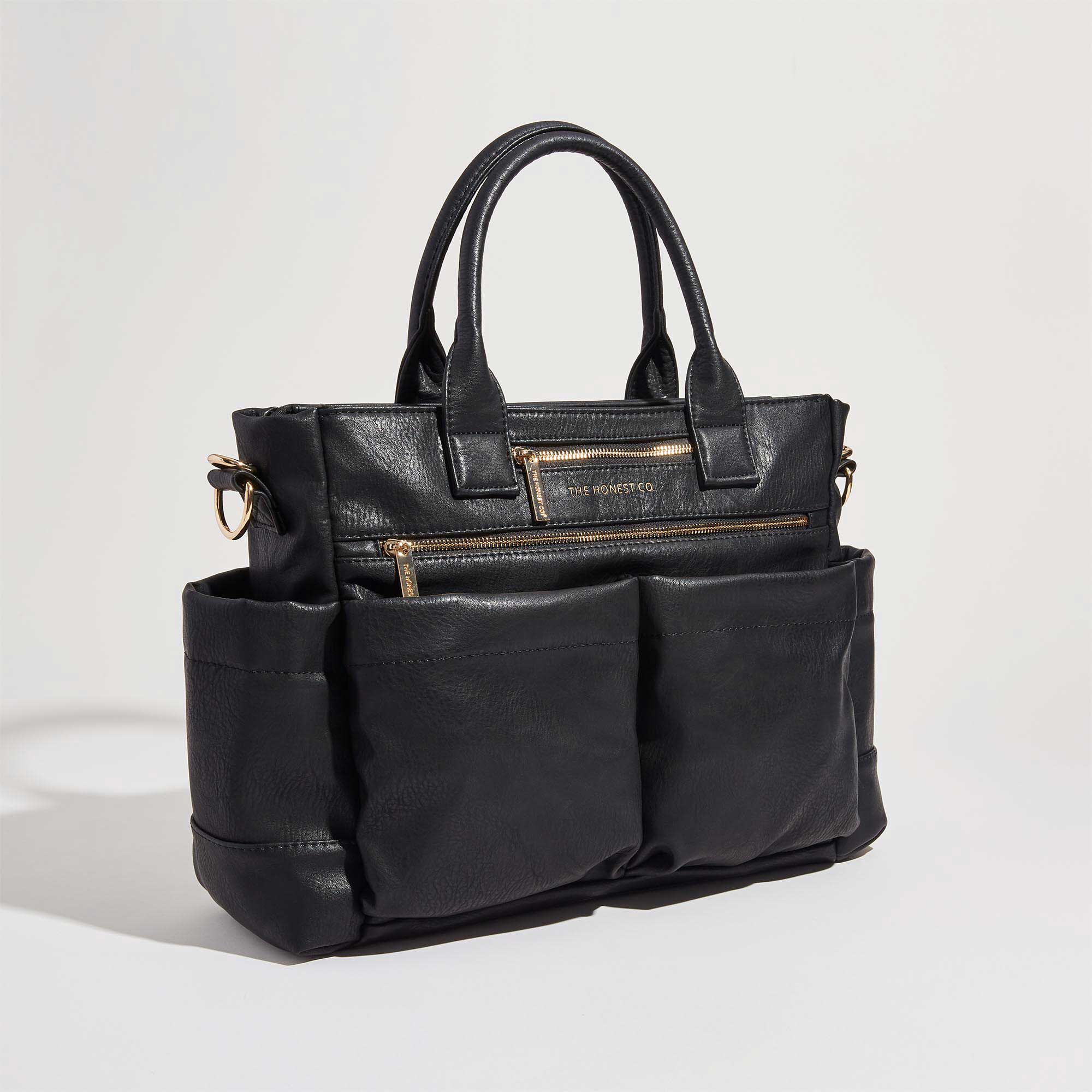 Black Leather Everything Tote