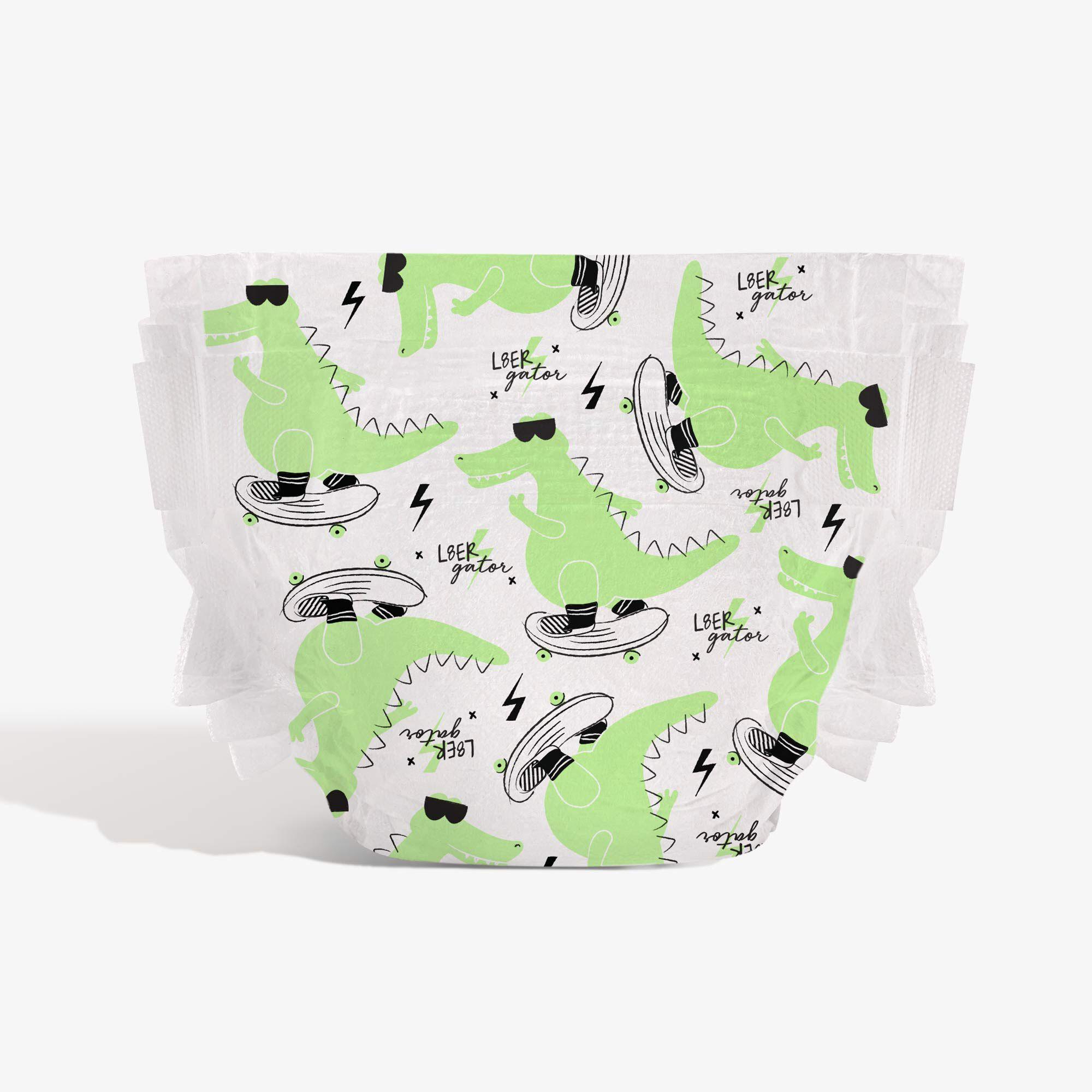 Later Gator diaper print