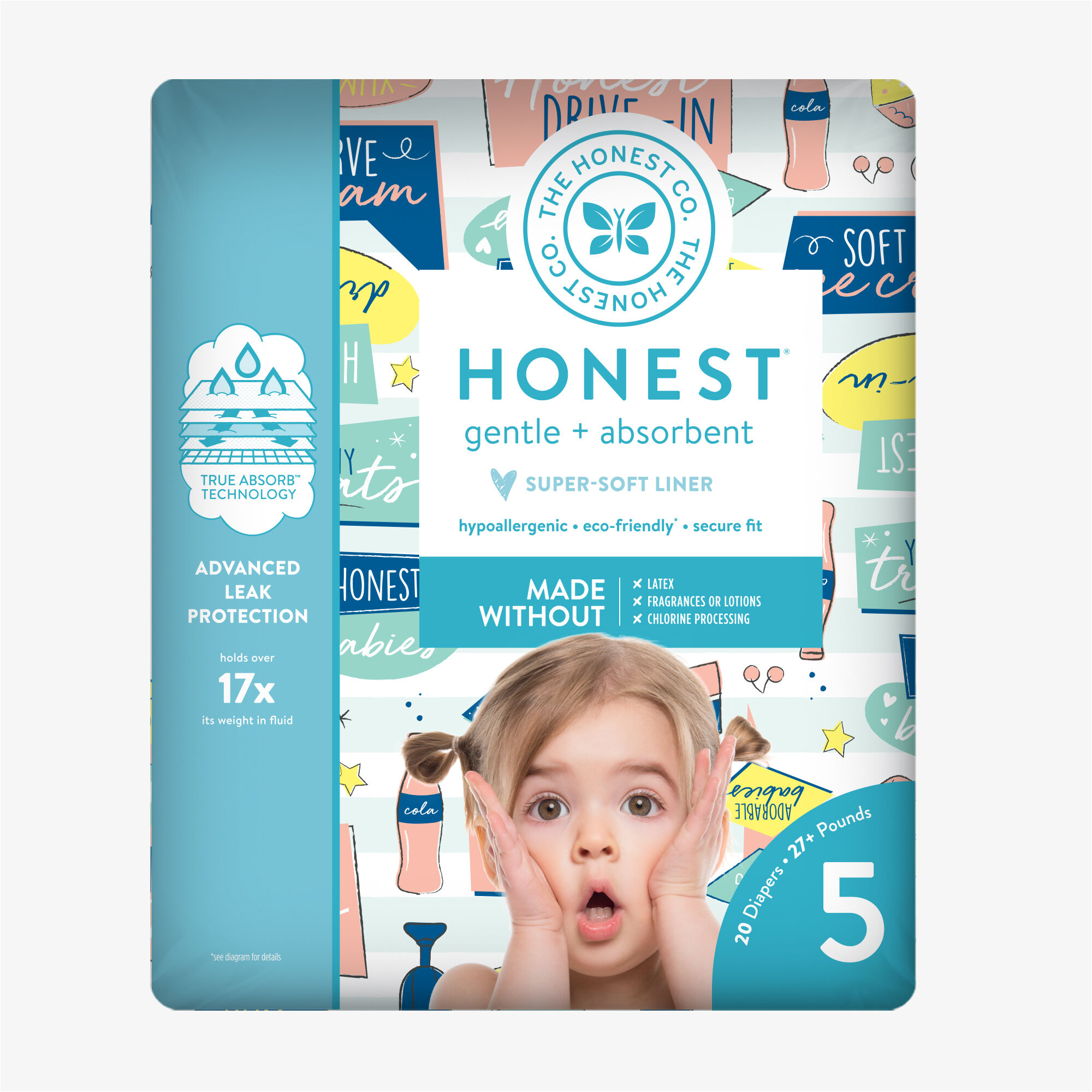 Diapers, Honest Drive-In, Size 5