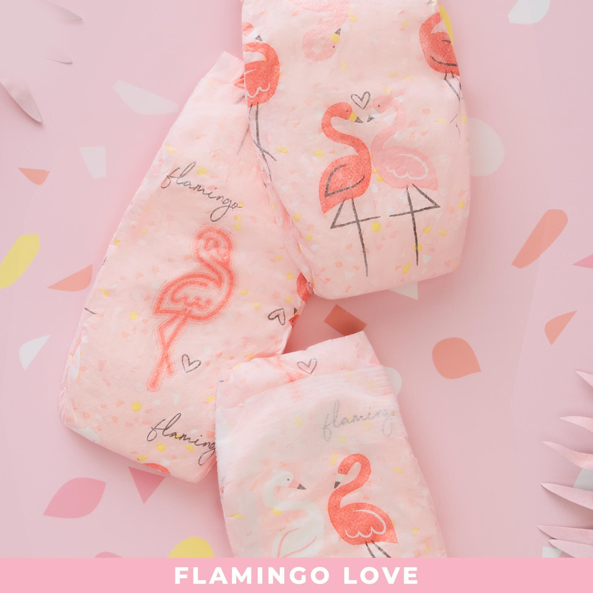 Diapers, Flamingo Love, Size 4