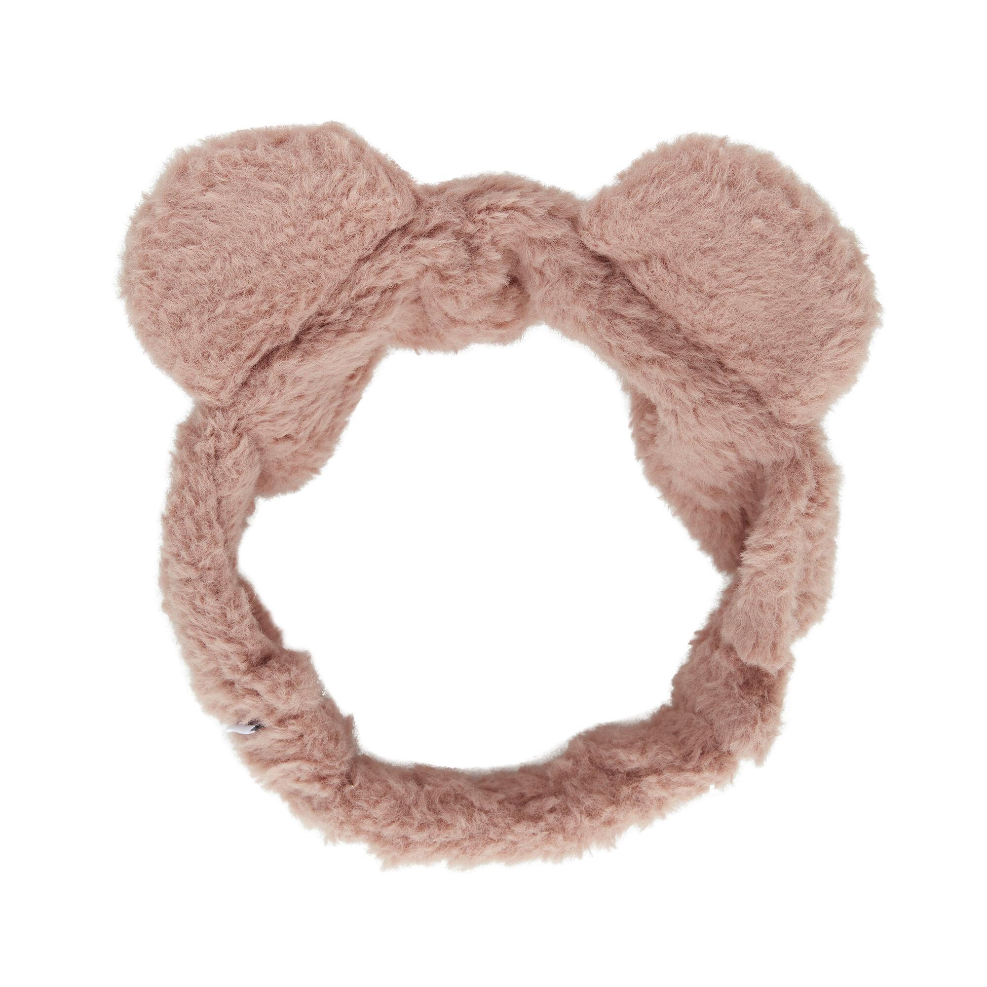 Fuzzy Headband, Dusty Rose