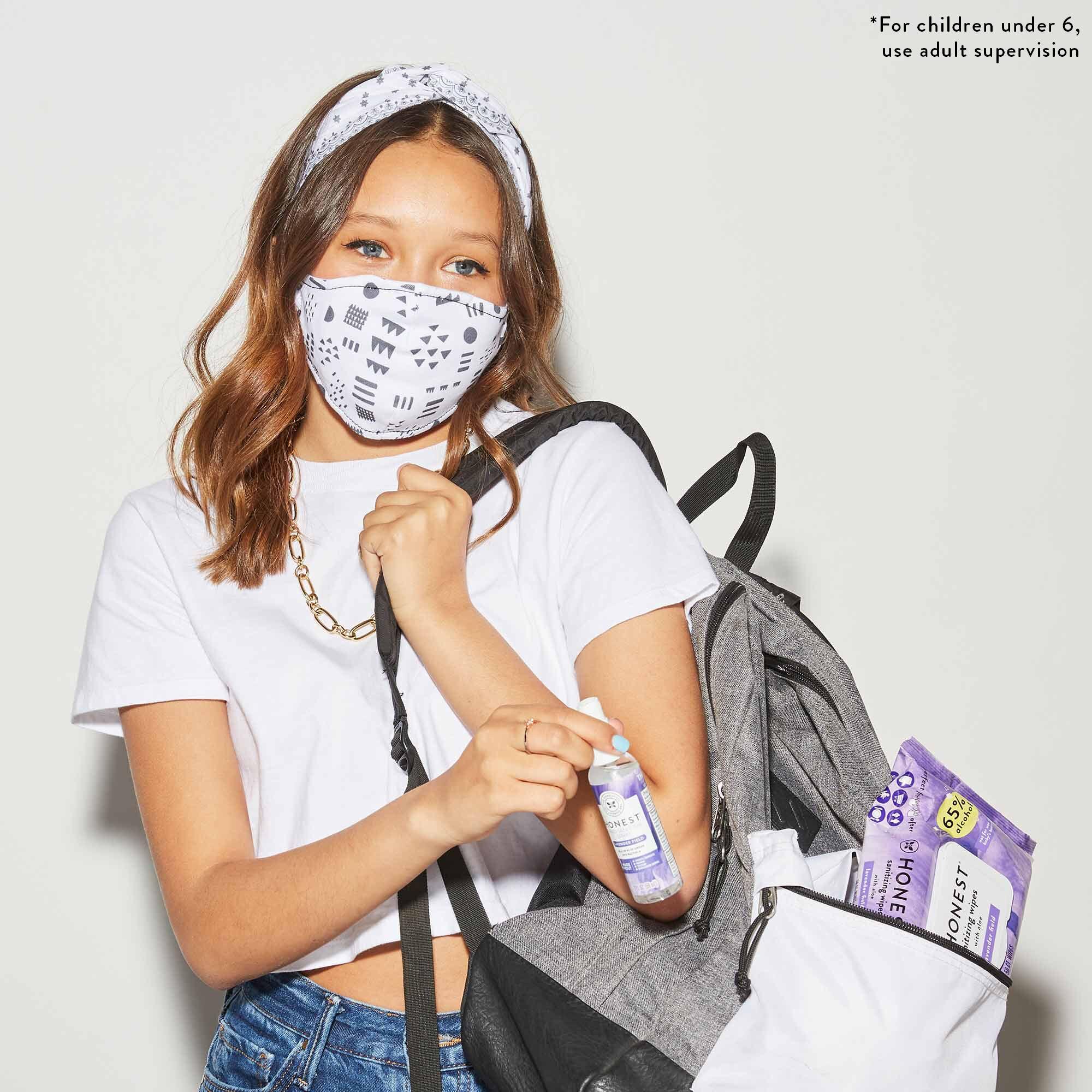 Kids Cotton Face Masks, 2-Pack
