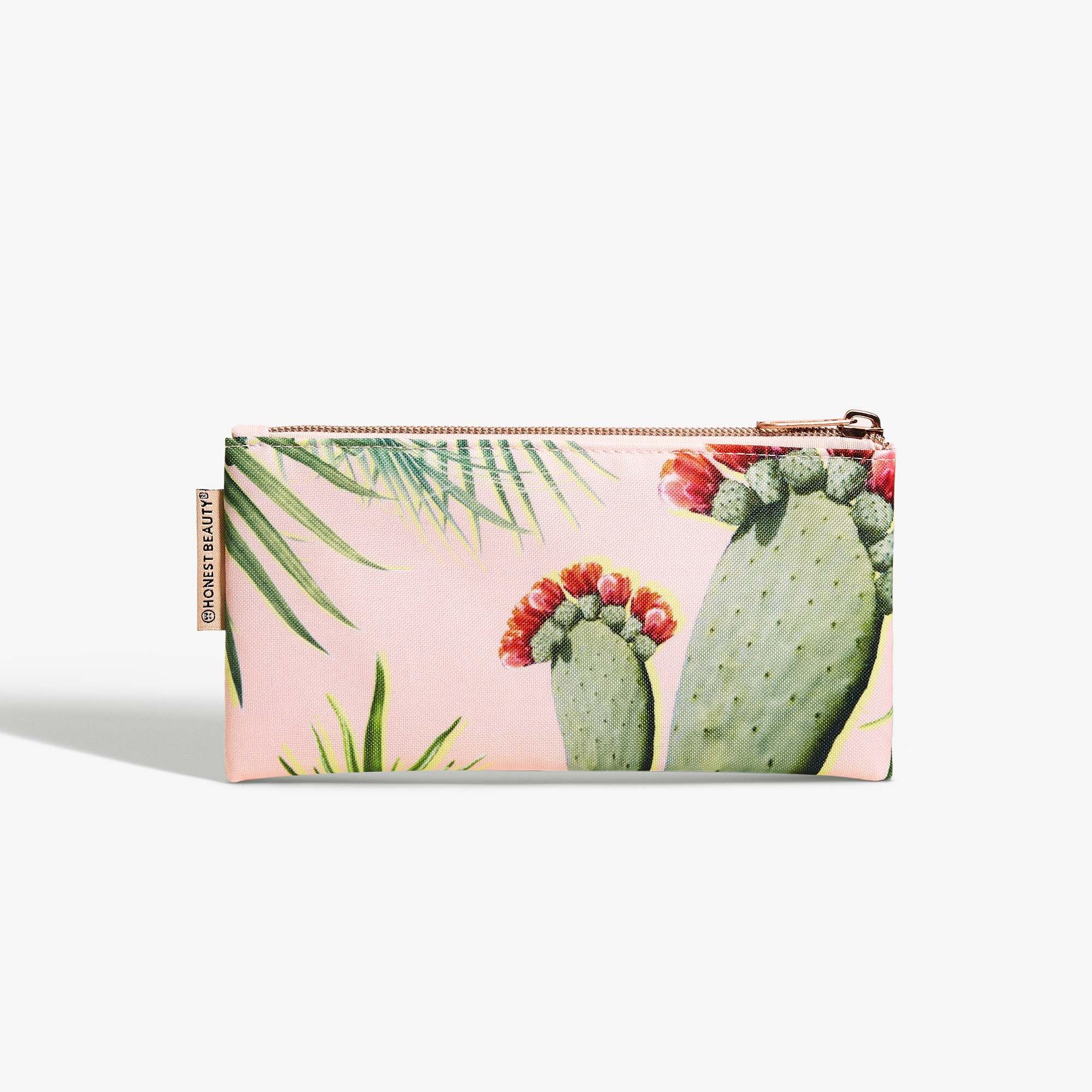 Nesting Palm Print Beauty Bag Set