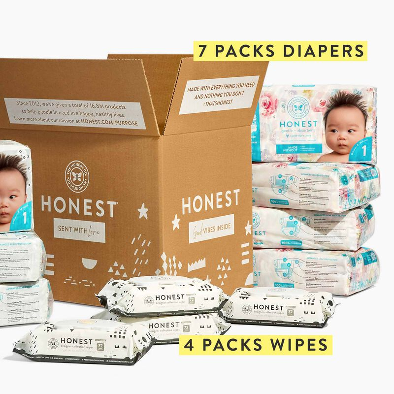 diapers and wipes bundle with call out of product list