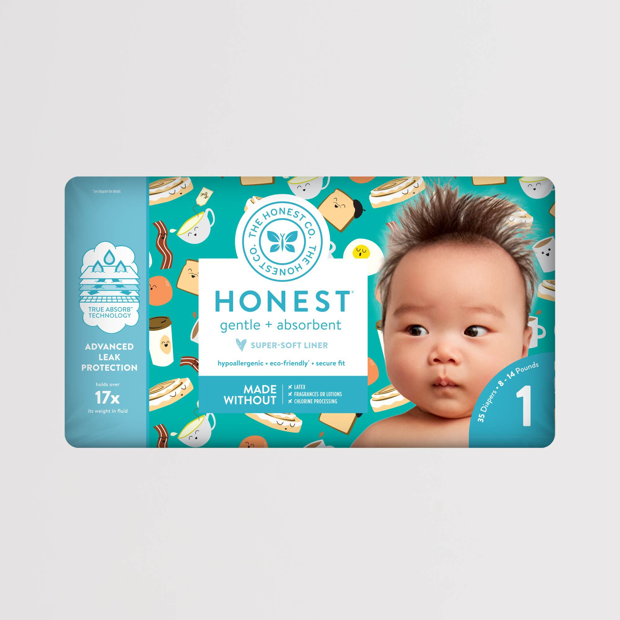 Honest Diaper Breakfast Pattern Polybag