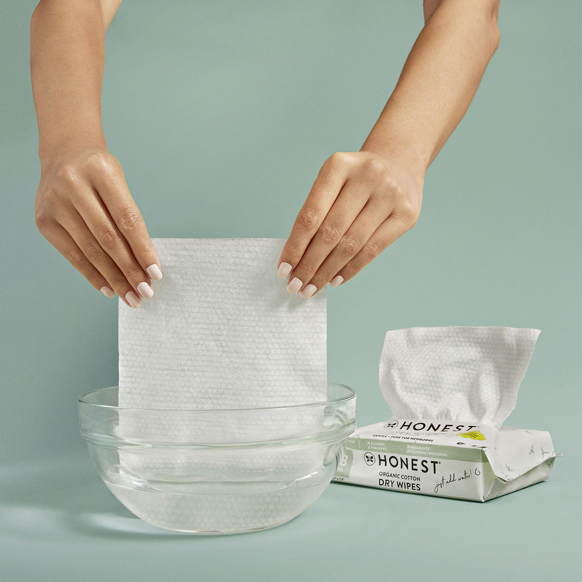 Honest Dry Wipes, 48 Count