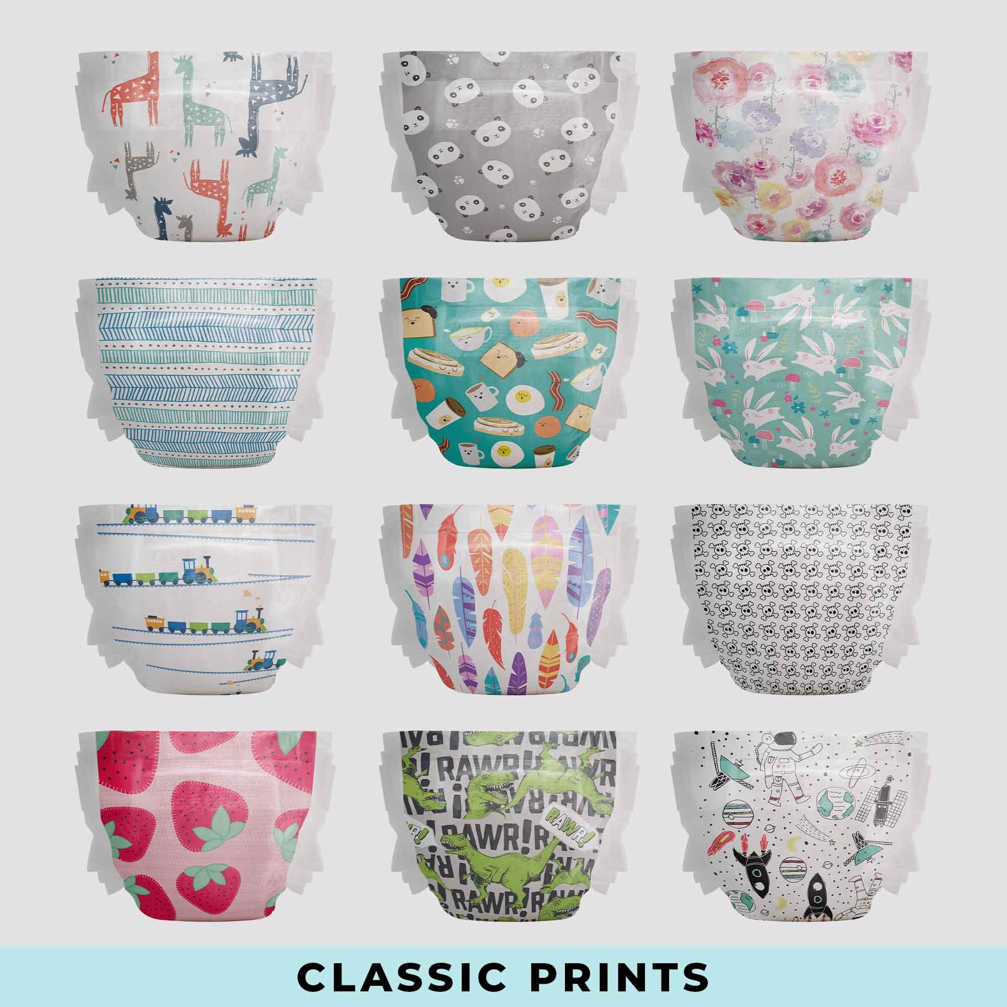 Classic Diaper Prints
