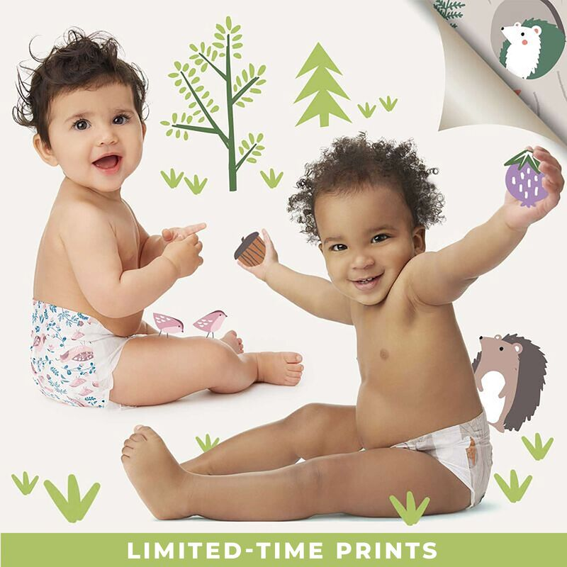 fall diapers on baby models