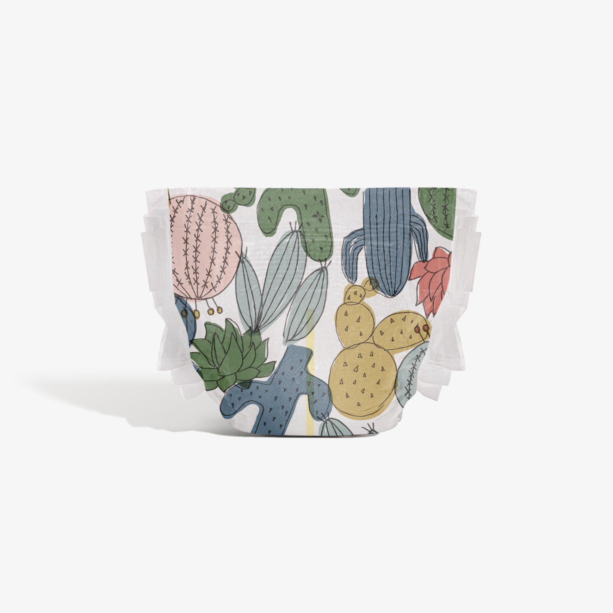 Clean Conscious Diaper, Cactus Cuties, Size 3
