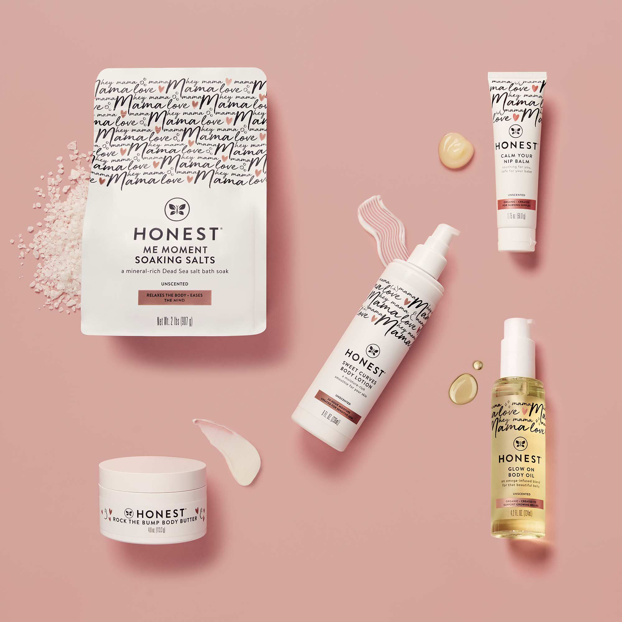Honest Mama Product Line Flatlay