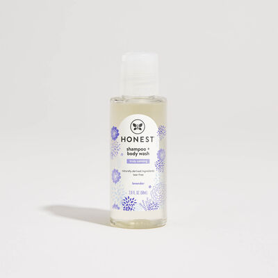 Shampoo + Body Wash, Travel Size, Truly Calming