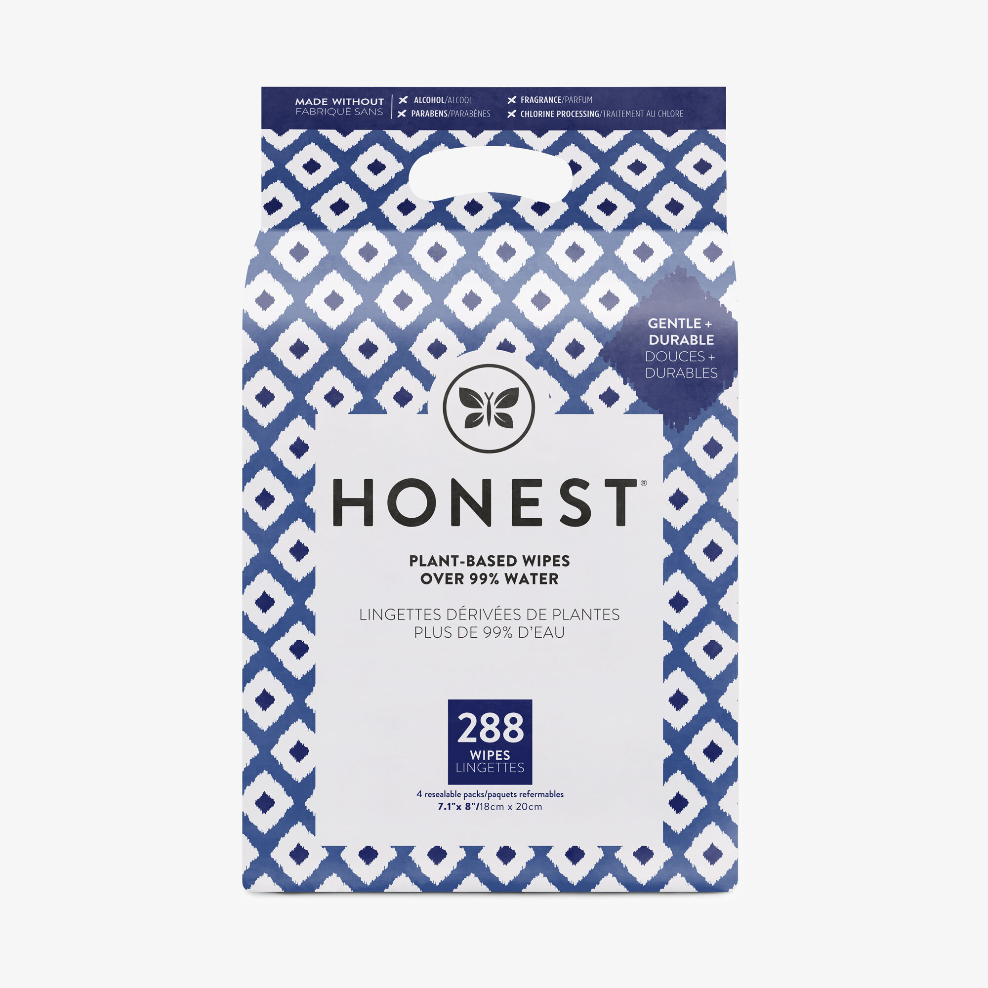Blue Ikat, 288 Count Wipes