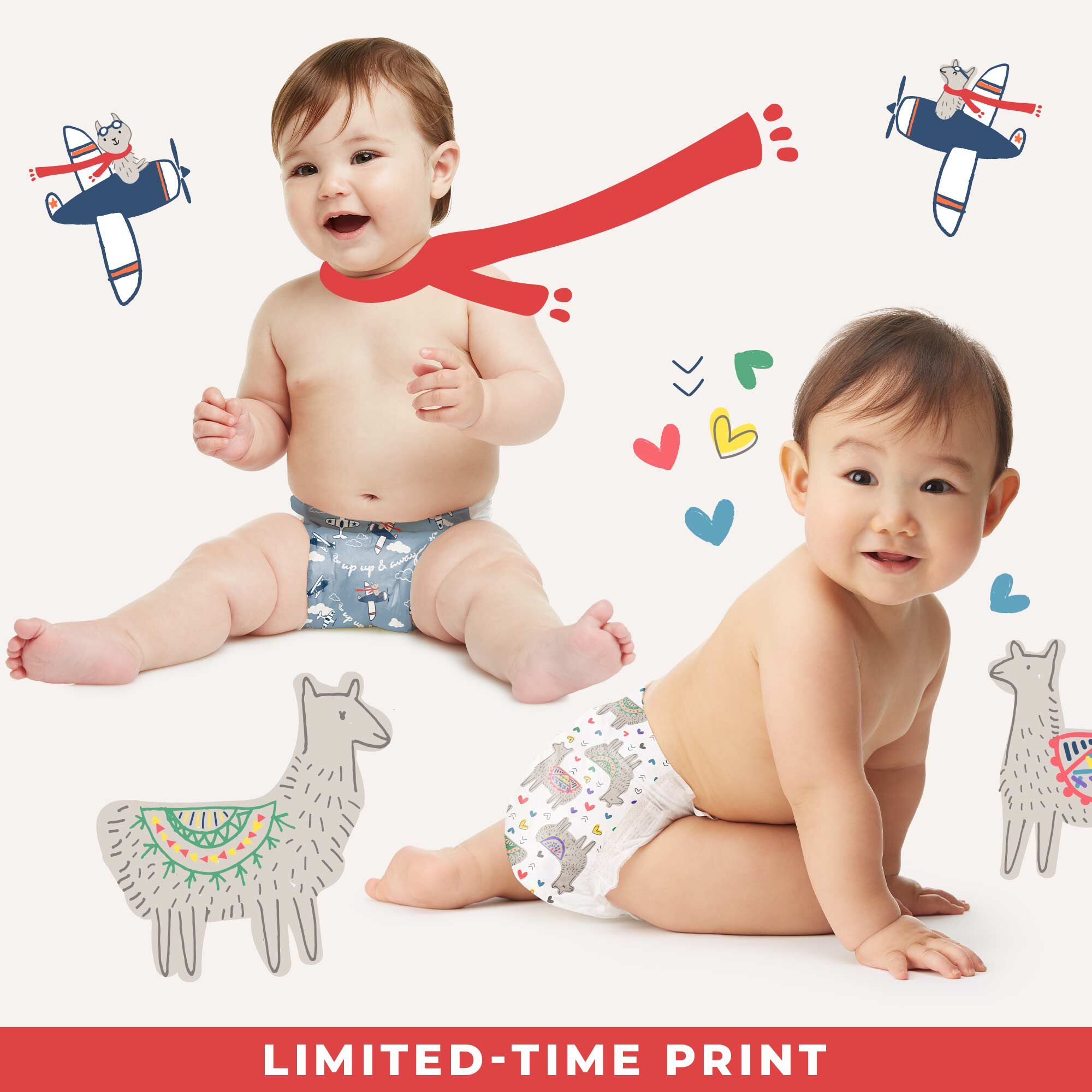 Limited Time, Target Exclusive Diaper Prints