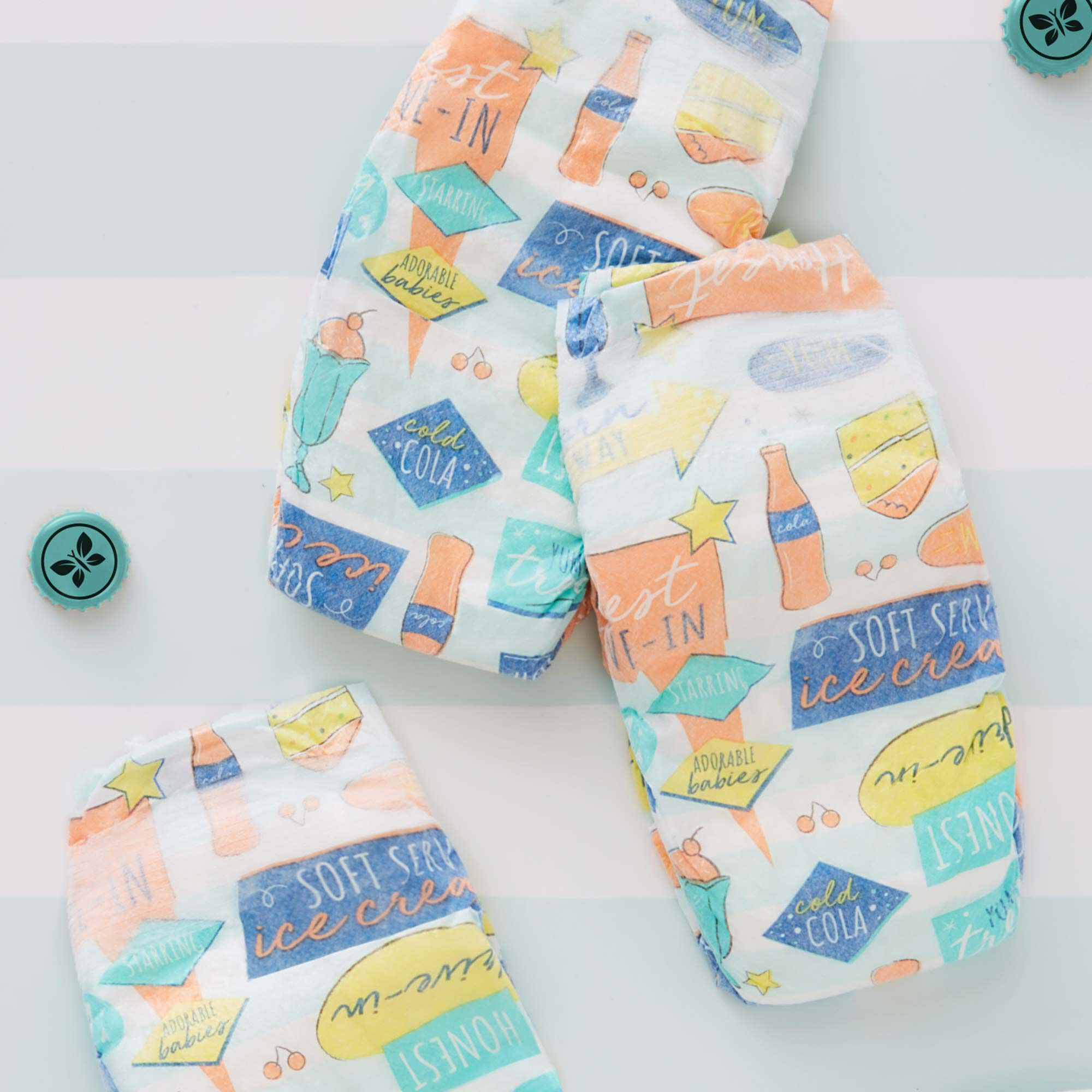 Diapers, Honest Drive-In, Size 3