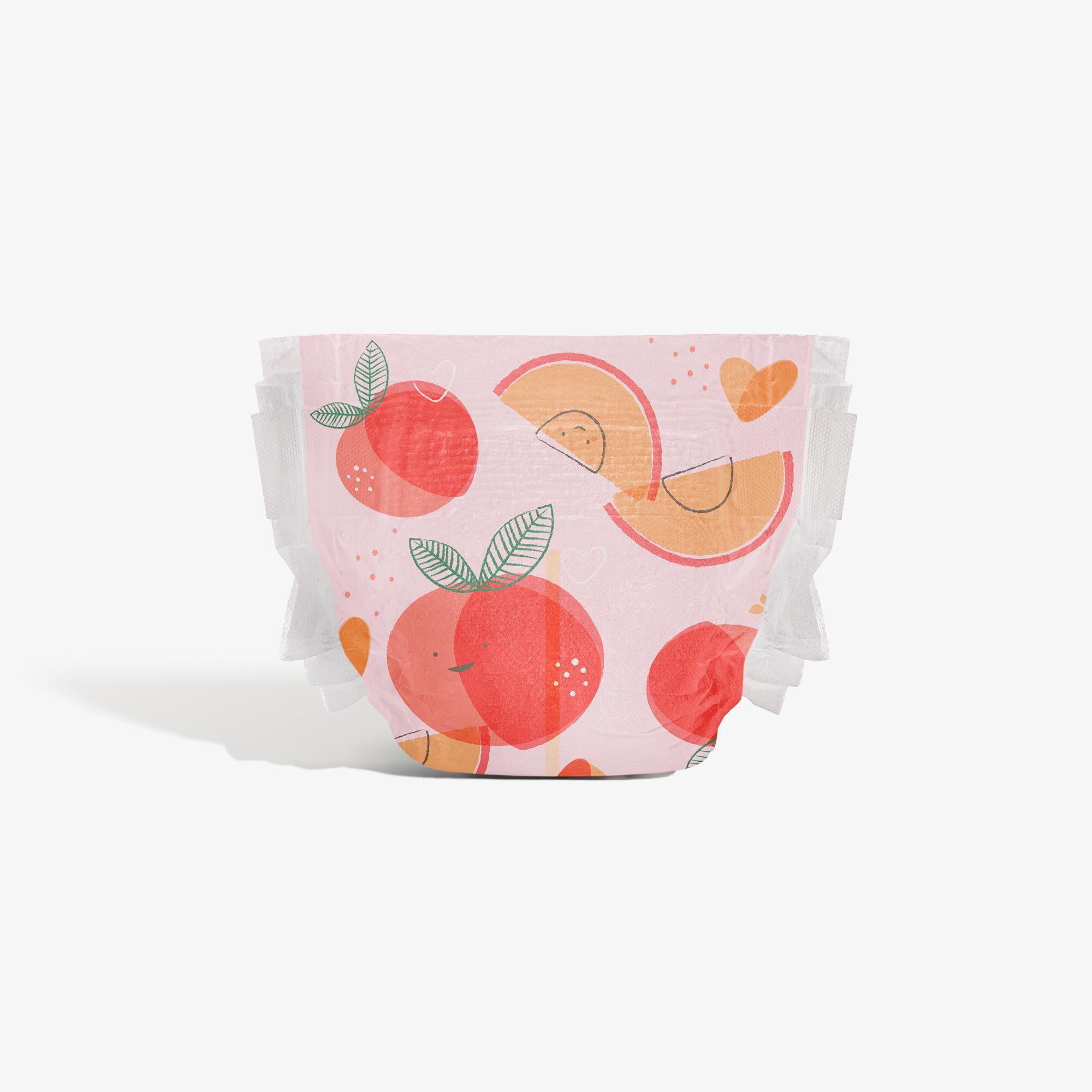 Clean Conscious Diaper, Just Peachy, Size 3