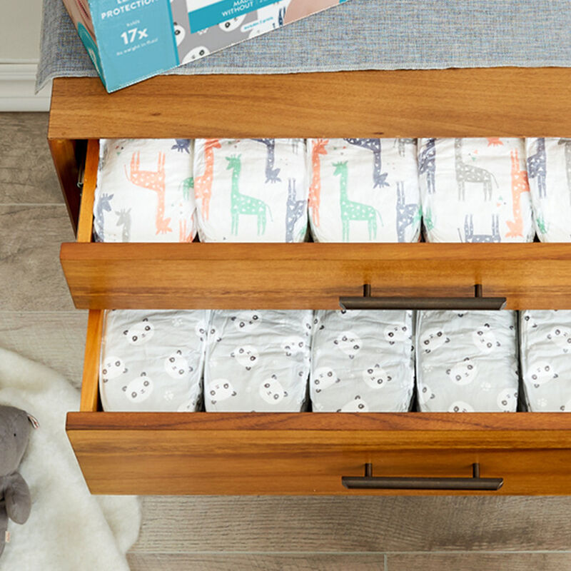 Diapers in Drawer