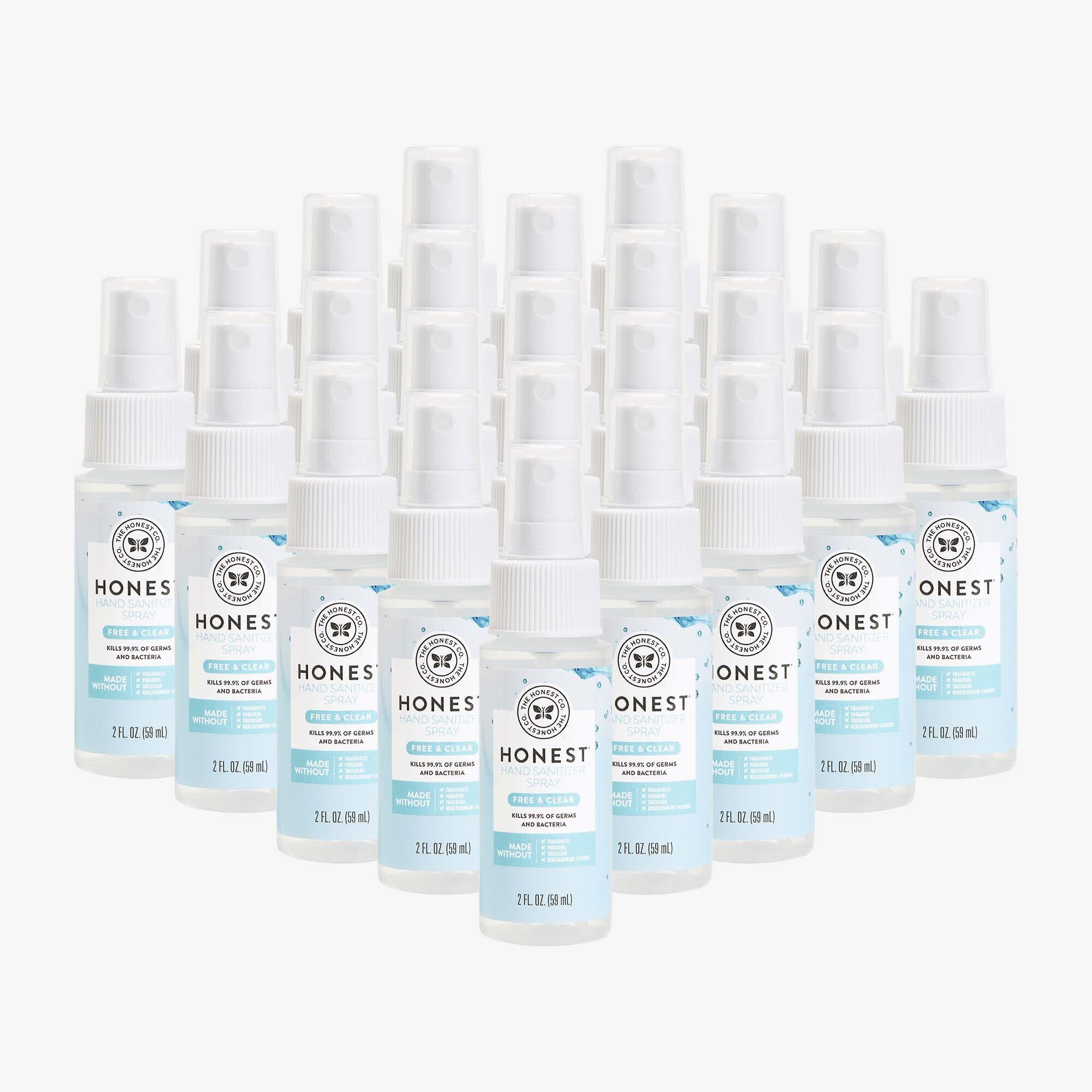 Hand Sanitizer Spray, Free + Clear, 24-Pack