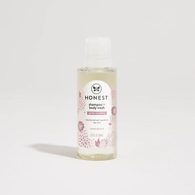 Shampoo + Body Wash, Travel Size, Gently Nourishing