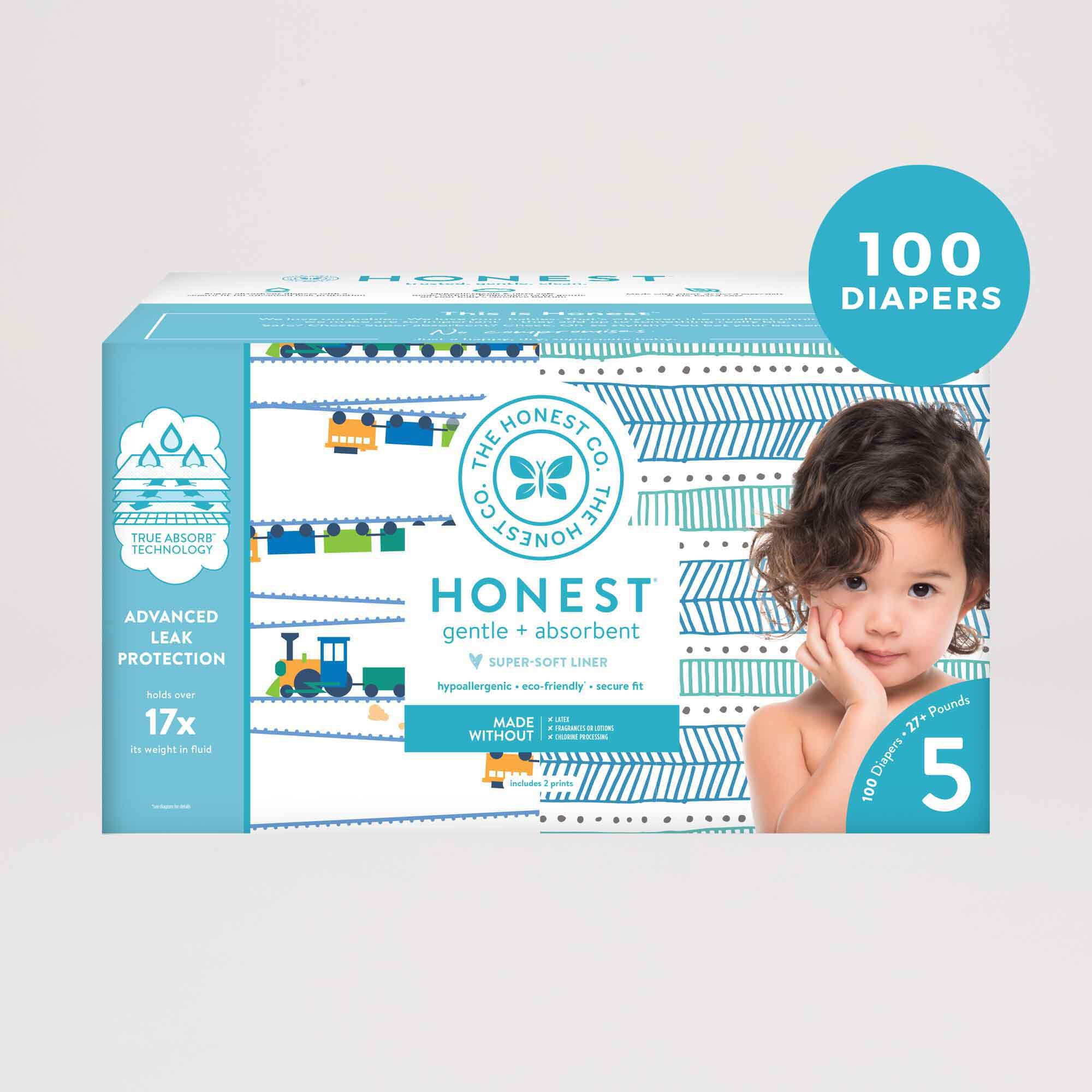 Trains and Teal Tribal Diaper Box