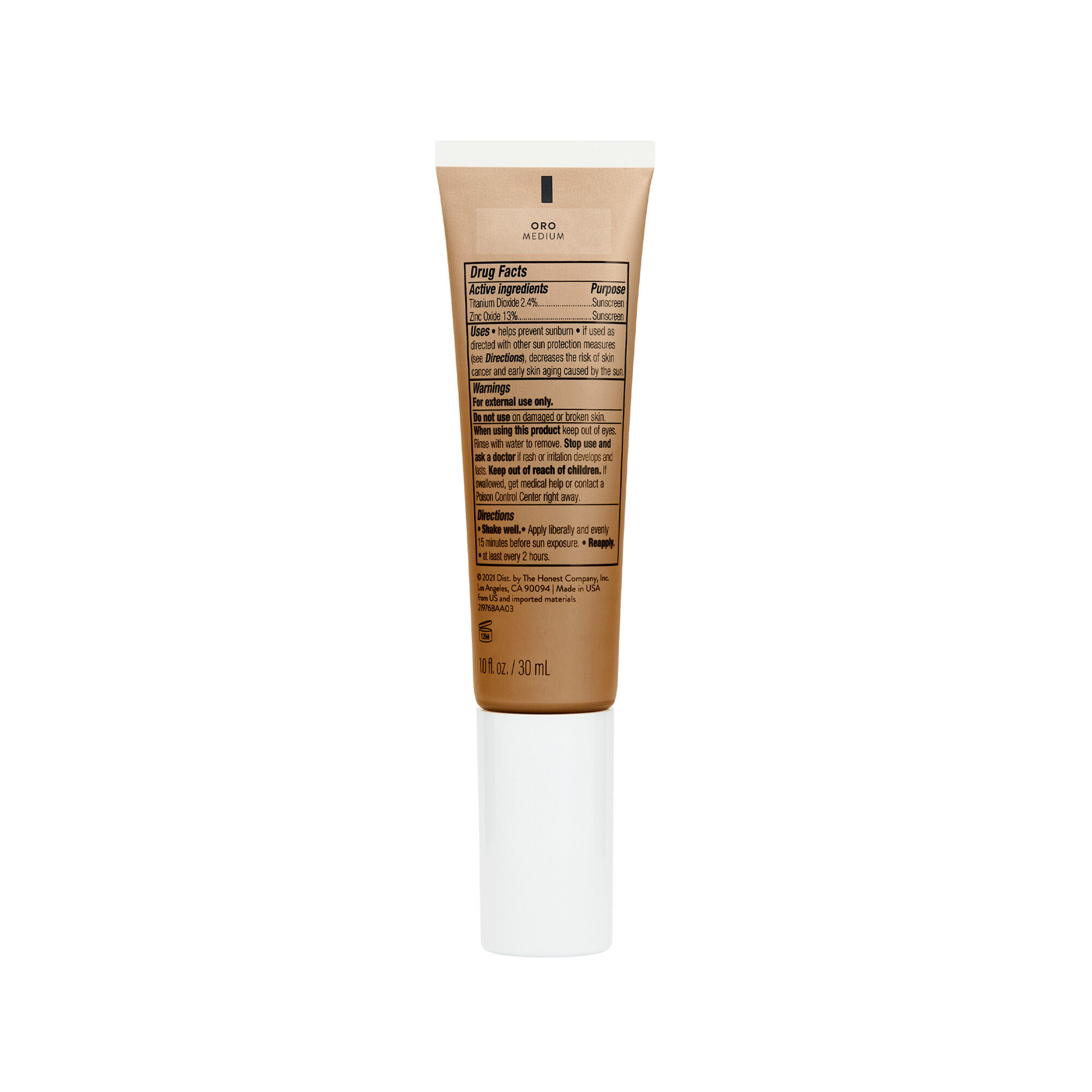 CCC Clean Corrective With Vitamin C Tinted Moisturizer Broad Spectrum SPF 30, Oro