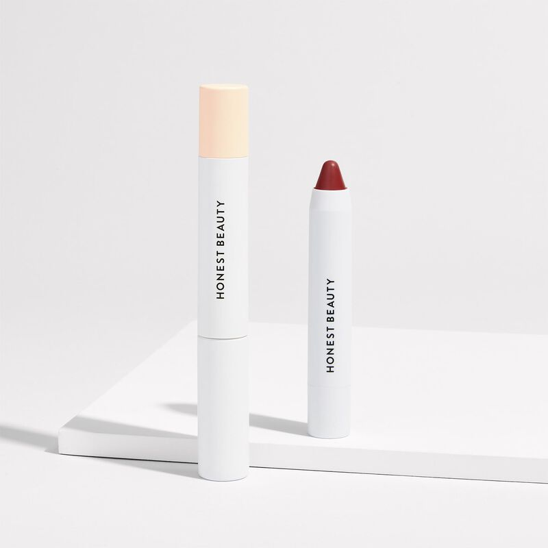 mascara + lip crayon group image