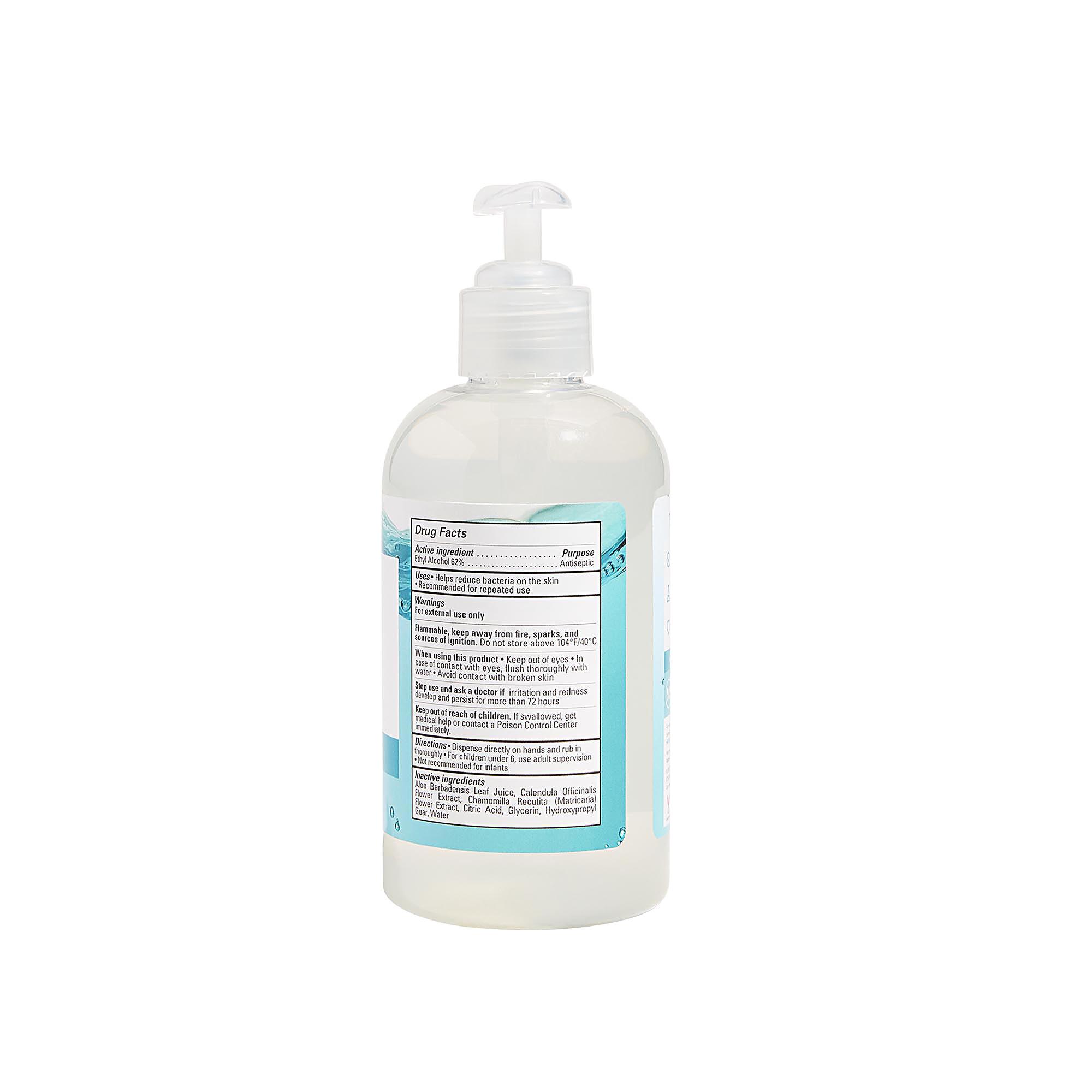 Back of Product - Hand Sanitizer Gel