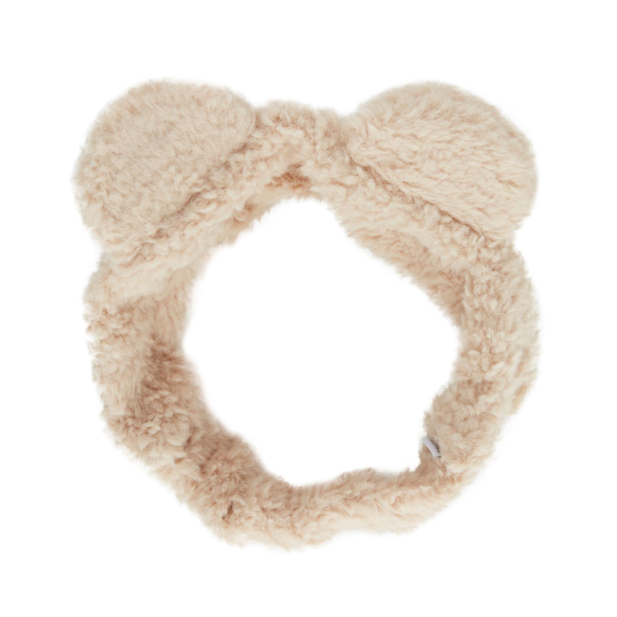 Fuzzy Headband, Natural Sand
