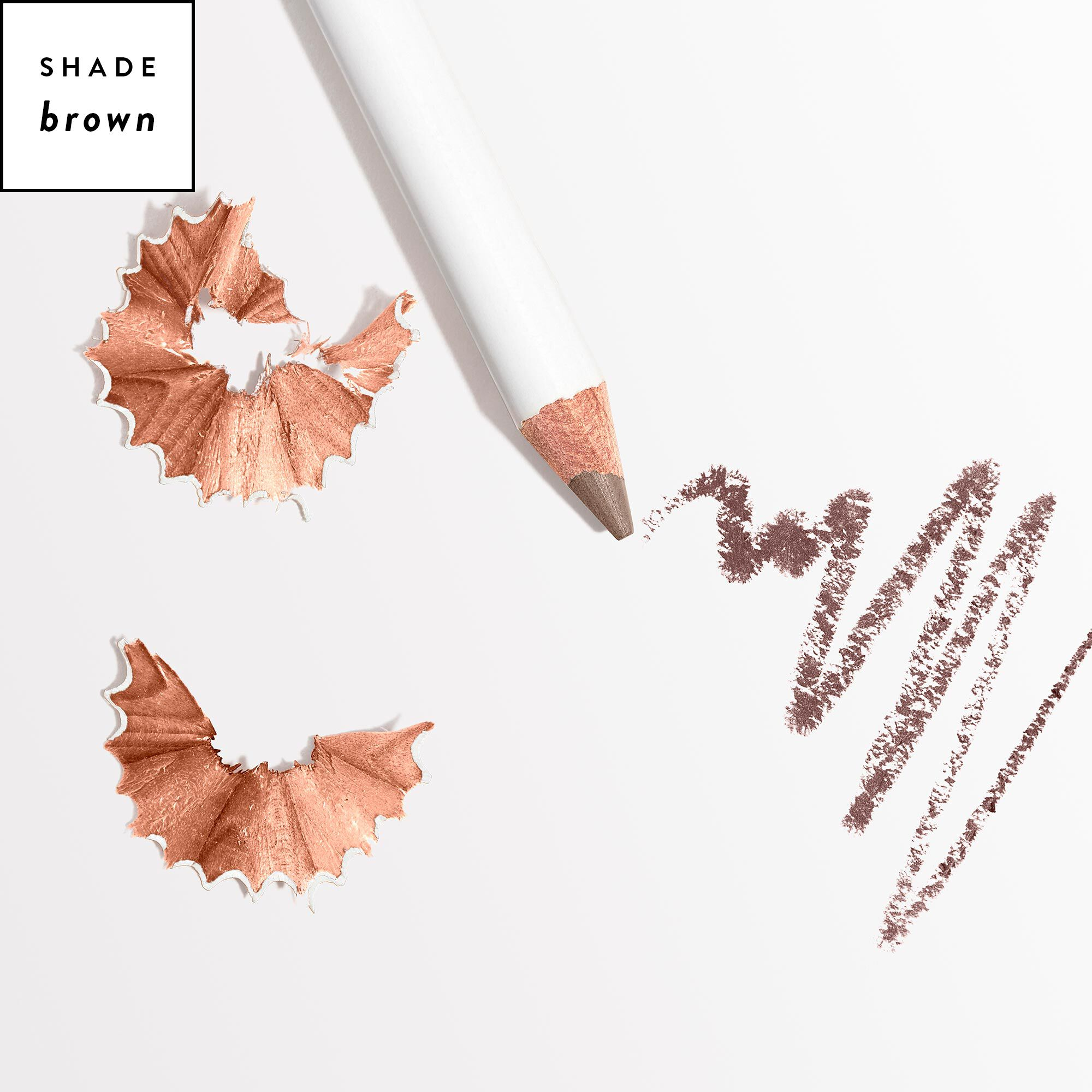 brown eyebrow pencil with shade callout