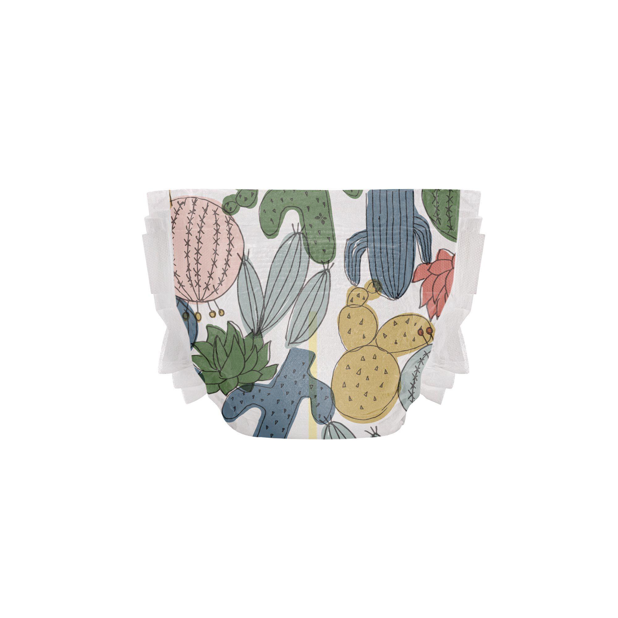 Clean Conscious Diaper, Cactus Cuties, Size 4