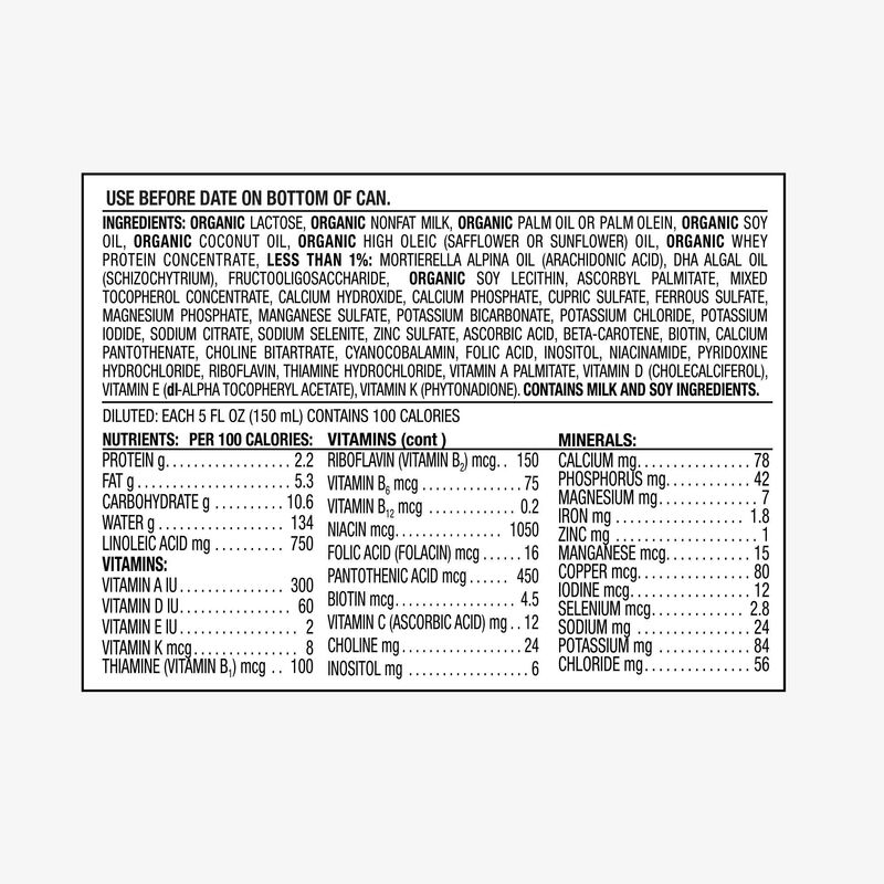 Organic Premium Infant Formula drug fact panel